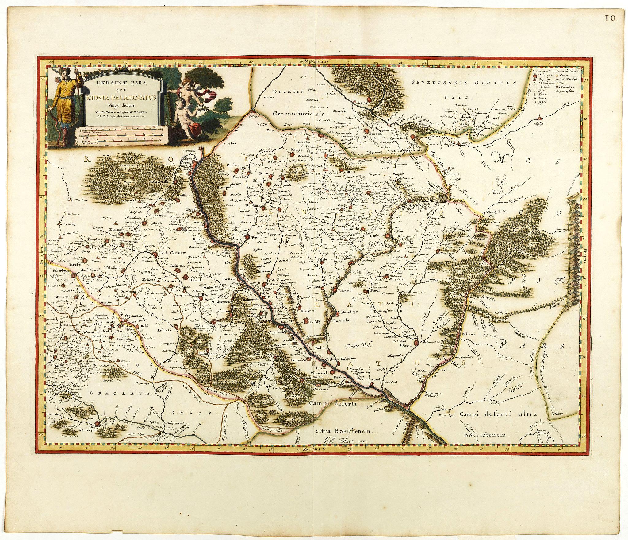 BLAEU, J. -  Ukrainae pars quae Kiovia Palatinatus.