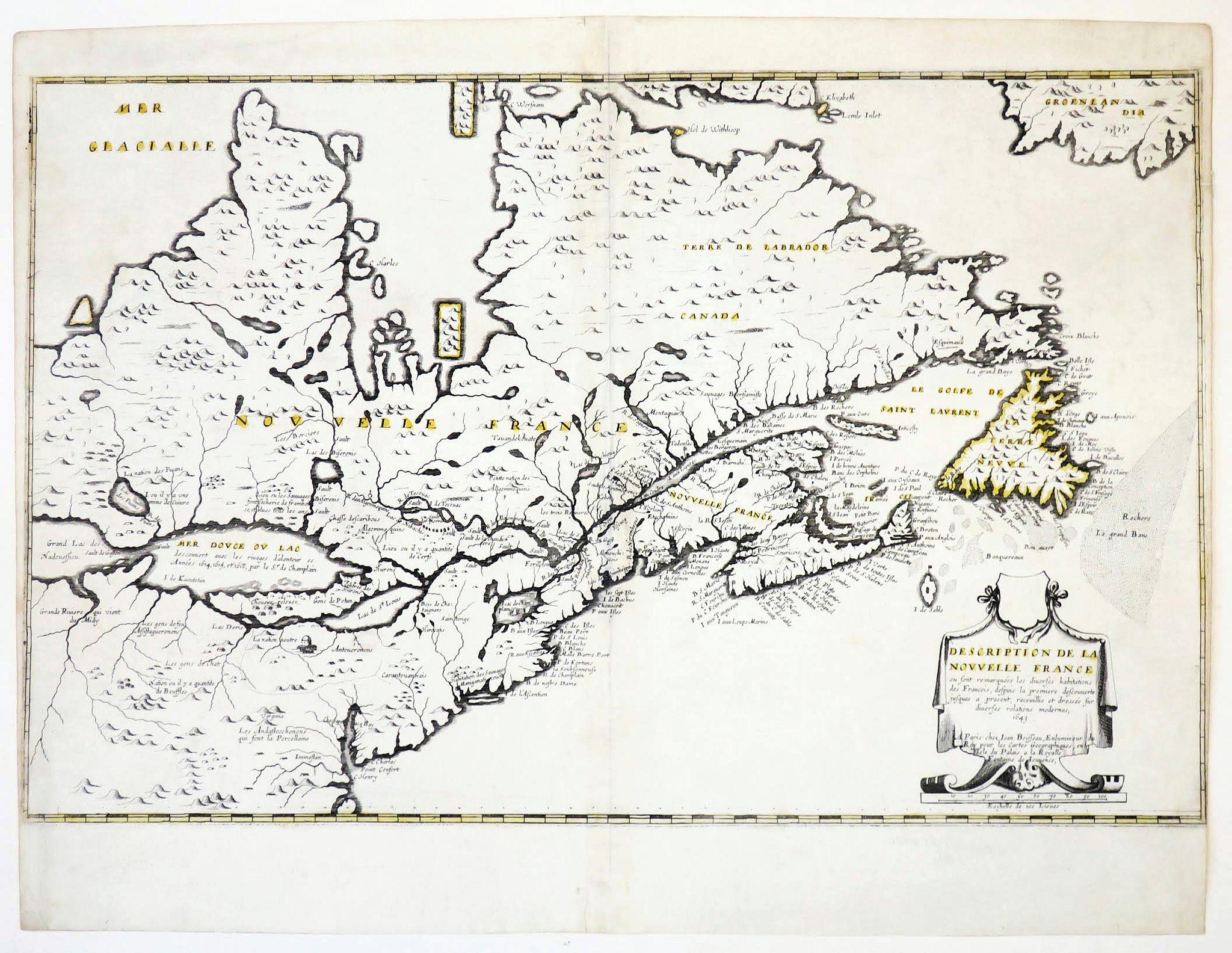BOISSEAU, J. -  Description de la Nouvelle France. . .