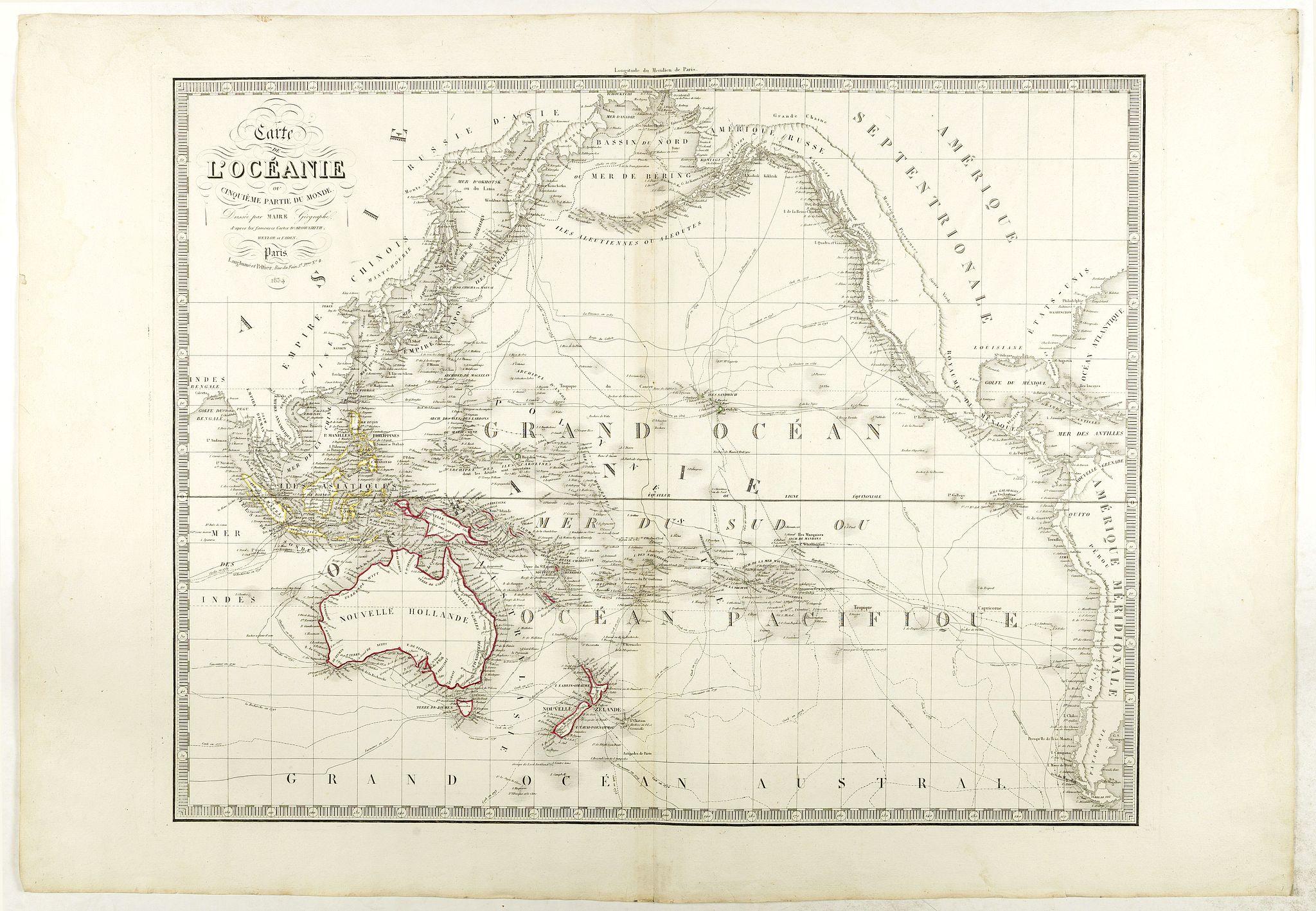MAIRE, N. -  Carte de l'Océanie ou cinquième partie du Monde.