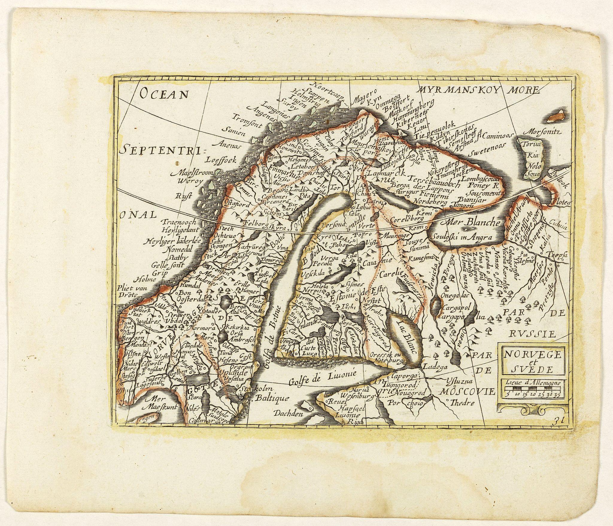 PICART, Nicolas / DUVAL, Pierre. -  Norvege et Suede. (31).