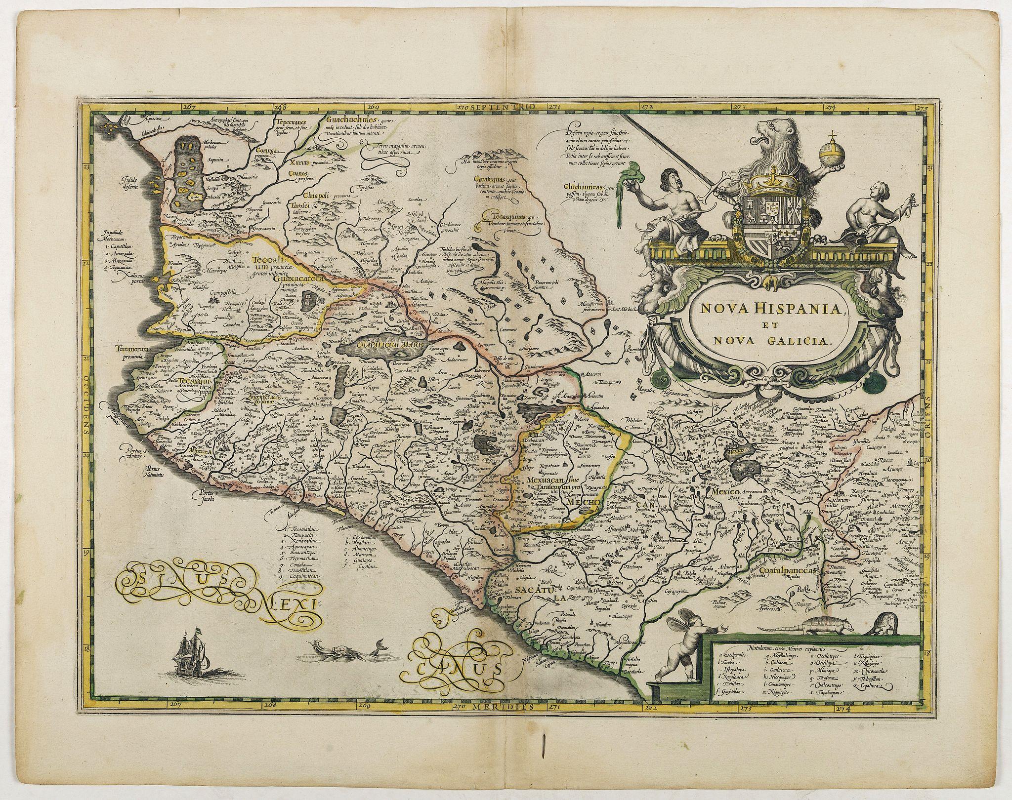 JANSSONIUS, J. -  Nova Hispania et Nova Galicia.