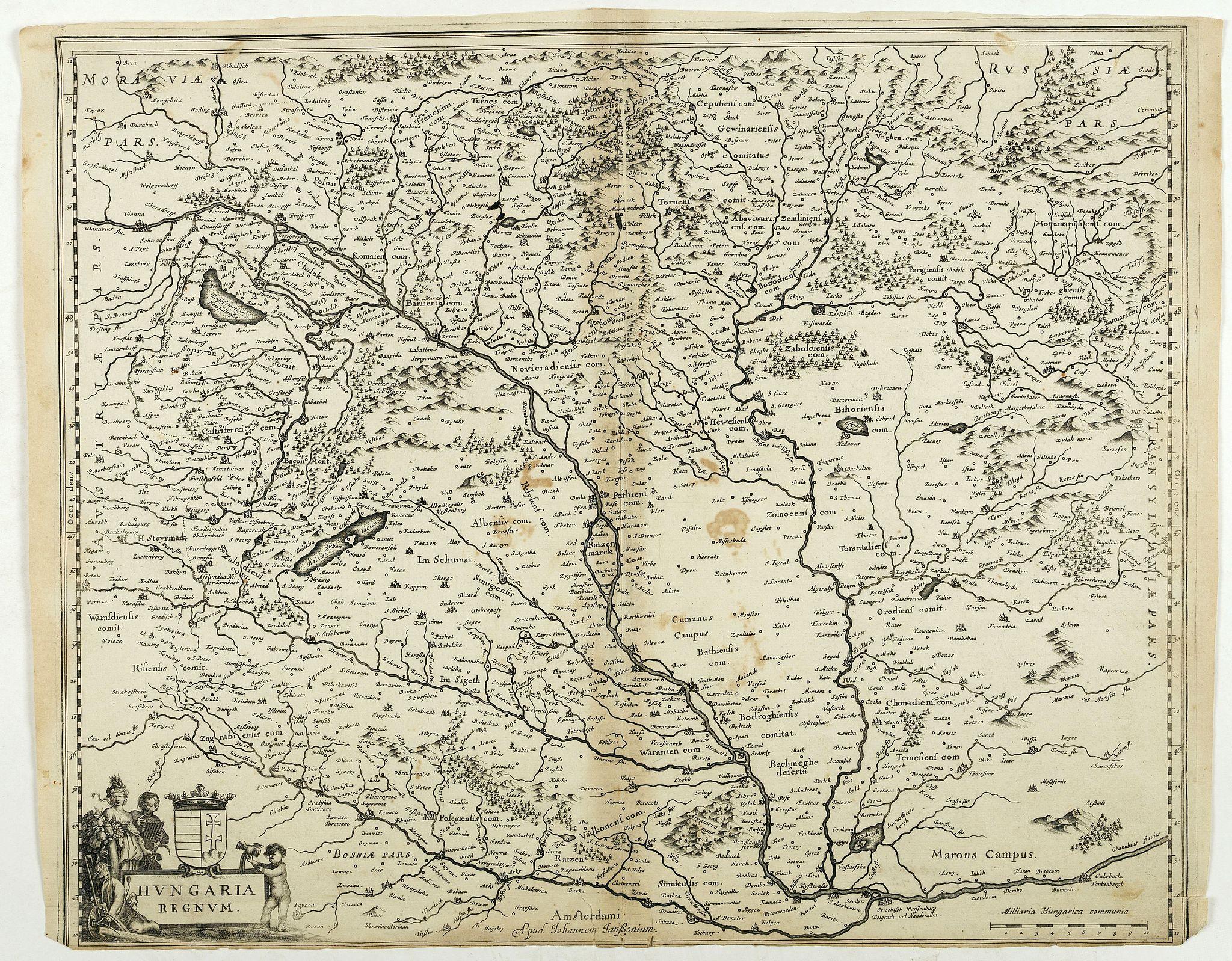 JANSSONIUS, J. -  Hungaria Regnum.