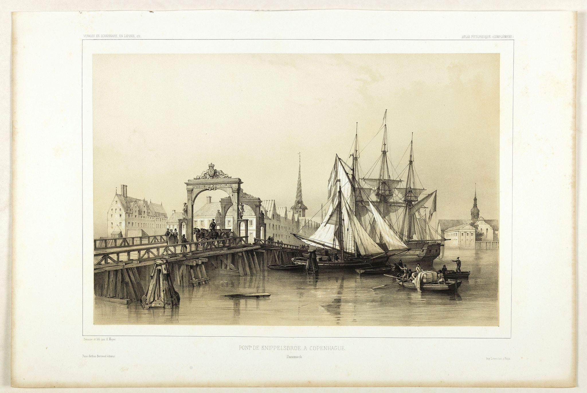 BERTRAND, Arthus. -  Pont de Knippelsbroe a Copenhague.