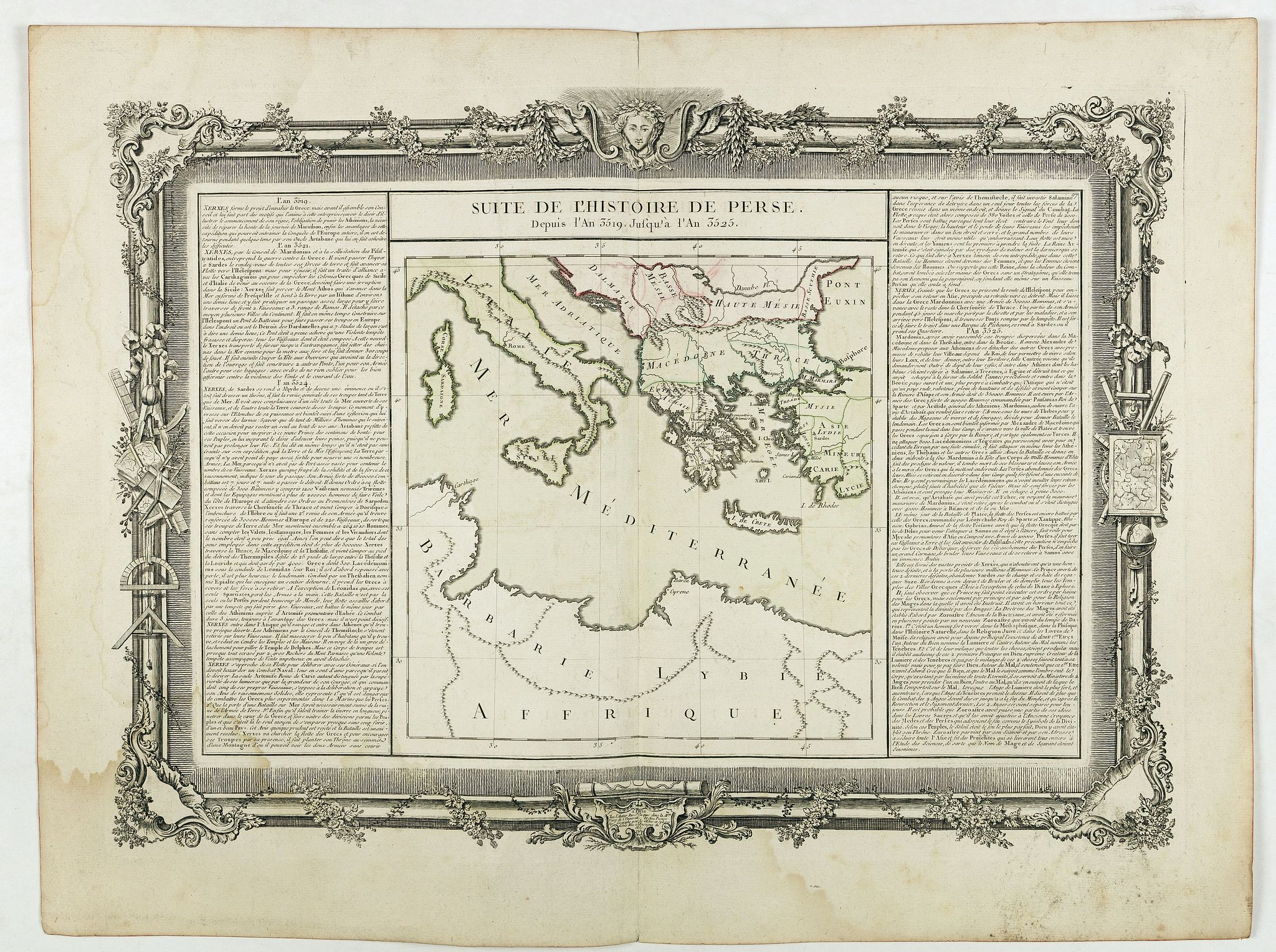 DE MORNAS. -  Suite de l'Histoire de Perse. Depuis l'An 3519, jusqu'à l'An 3525.