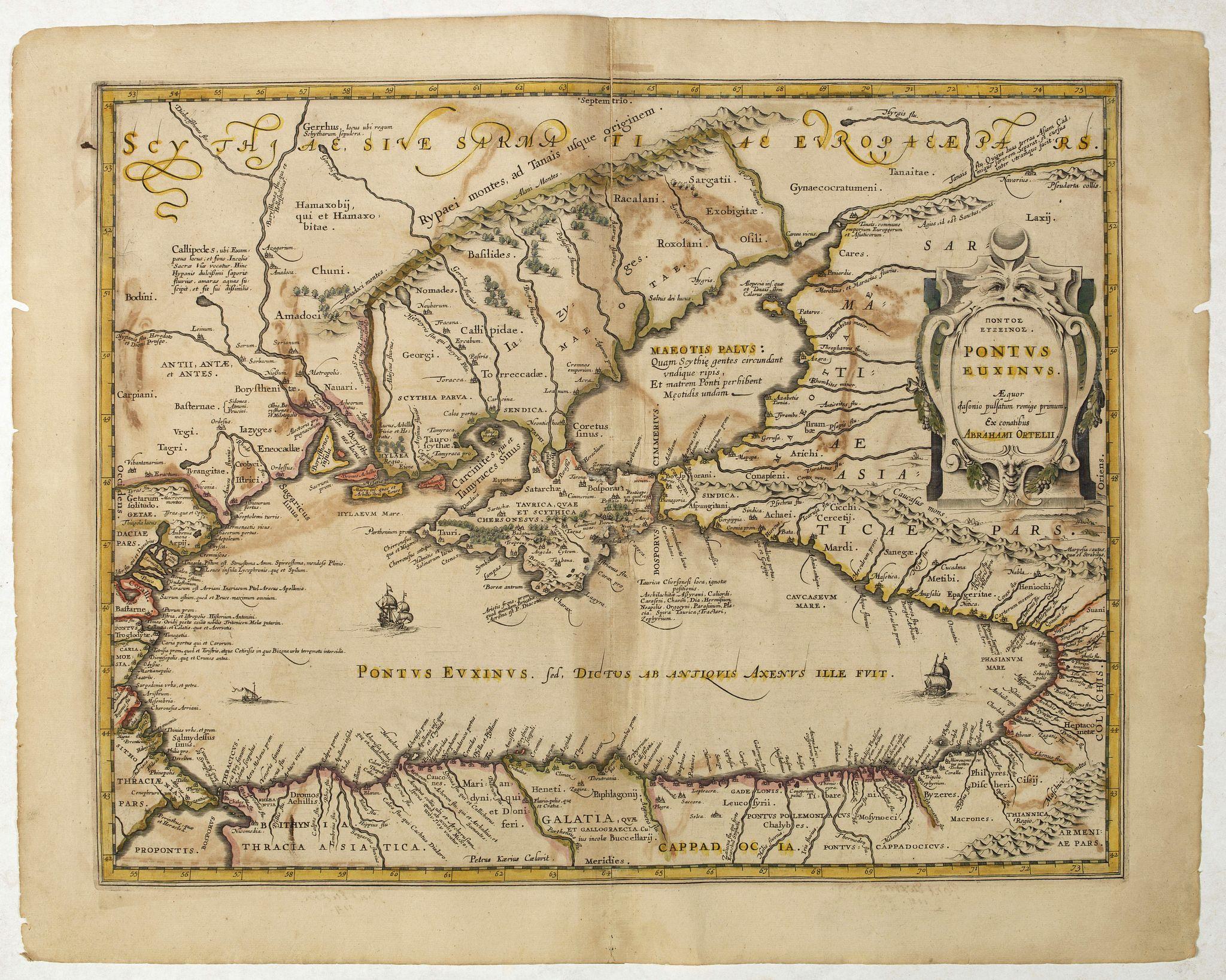 HONDIUS, H. -  Pontus Euxinus Aequor Iafonio pulfatum remige premum.