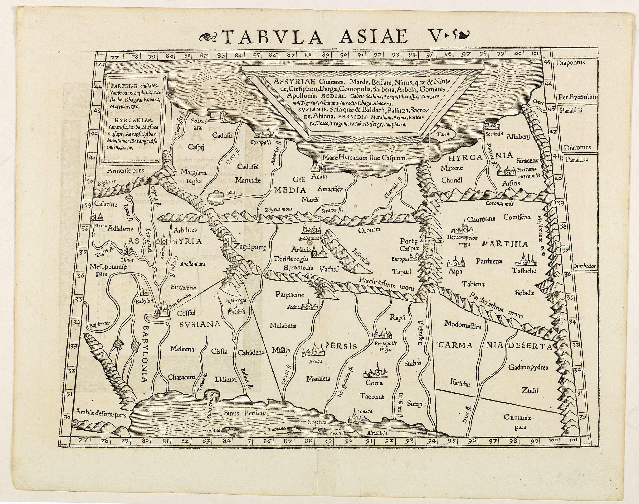 MÜNSTER, S. -  Tabula Asiae V. (Persia)