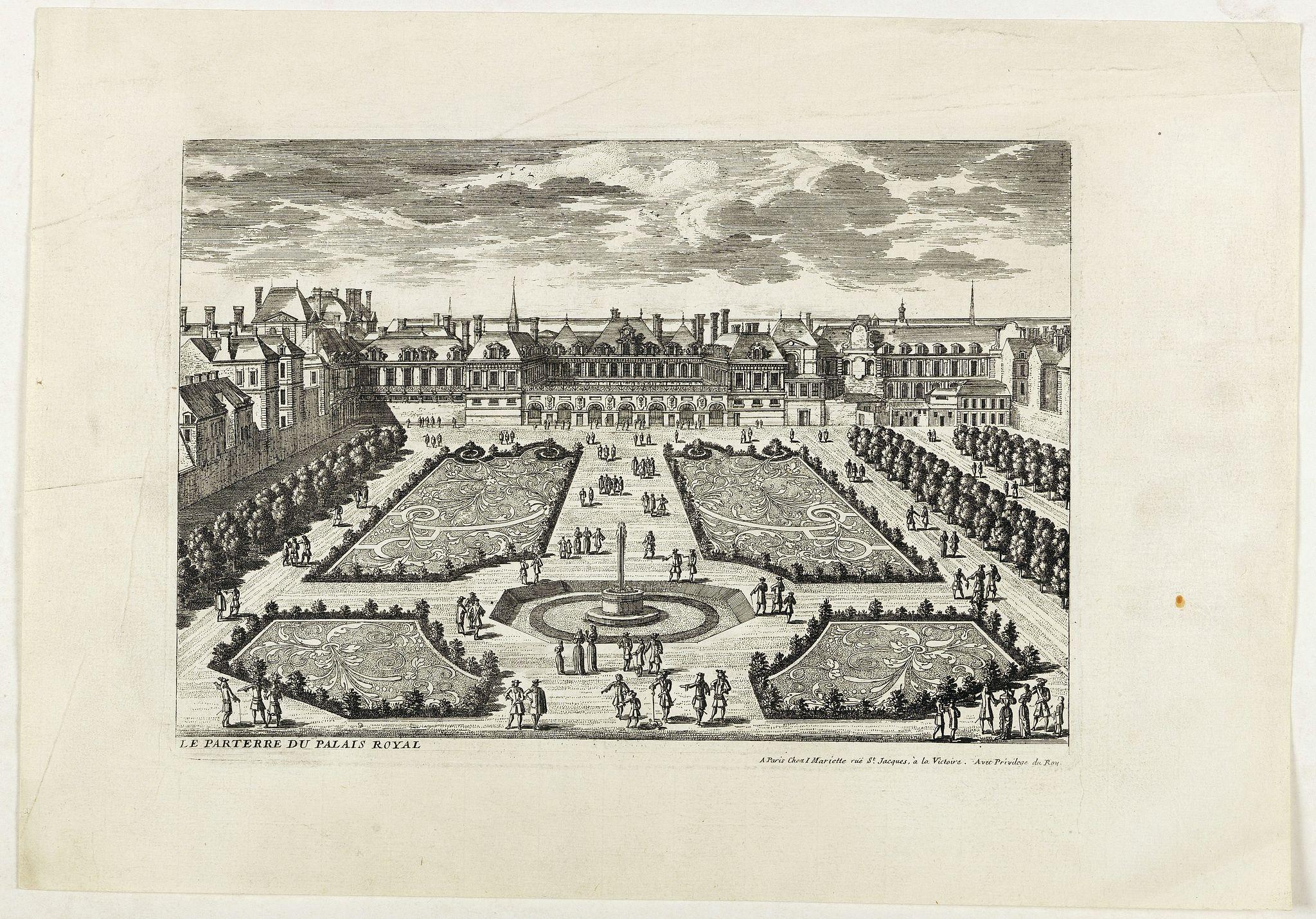 PERELLE, G. -  Le Parterre du Palais Royal.