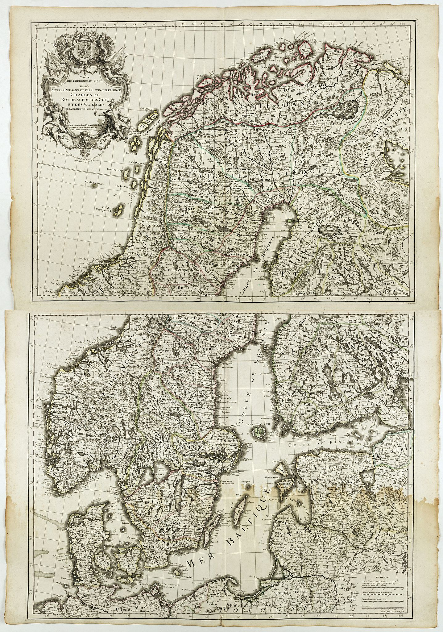 DELISLE, G. -  Carte des Courones du Nord. [2 sheets]