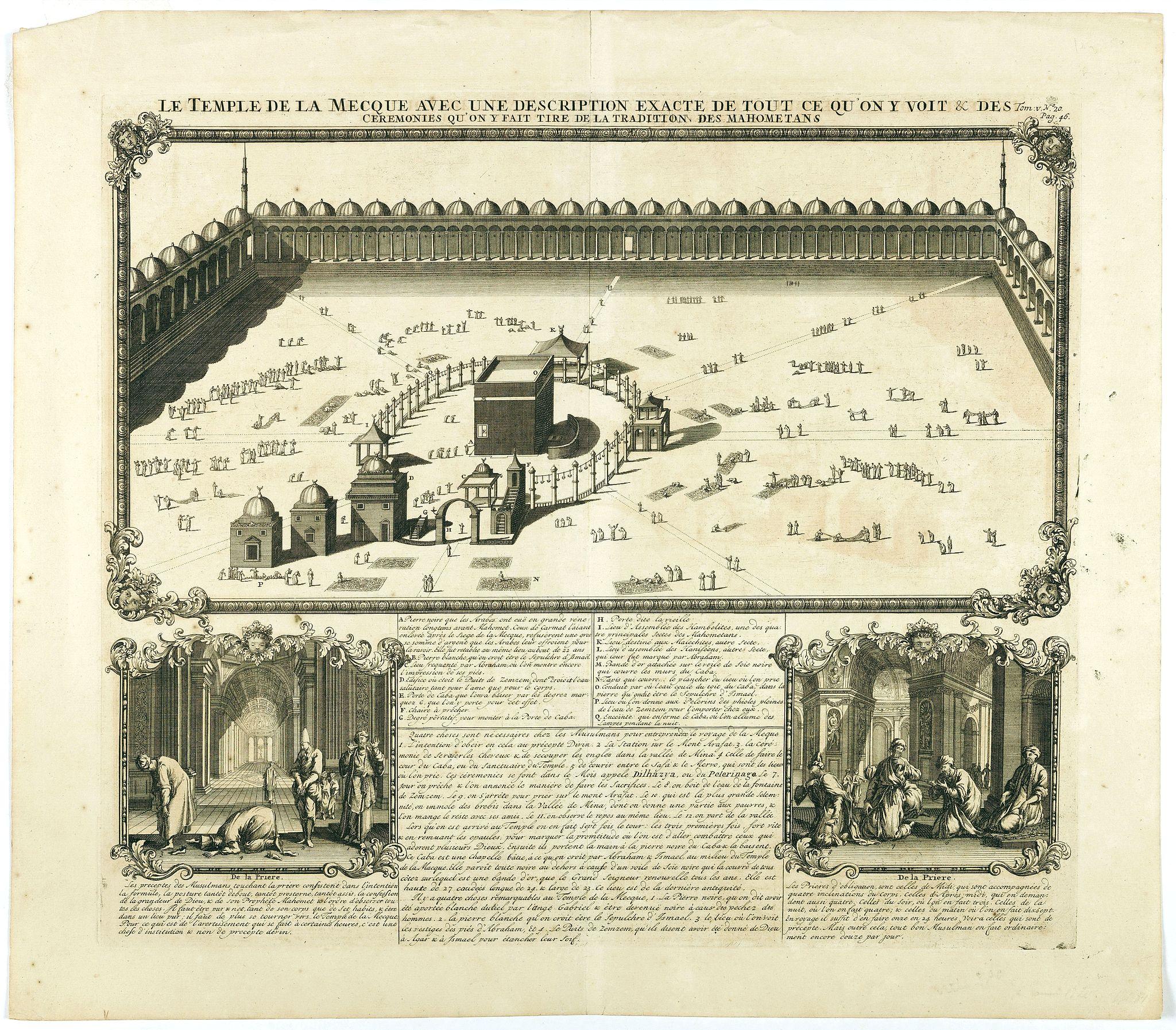 CHATELAIN, H. -  Le temple de la Mecque avec une description de tout ce qu'on y voit . . .