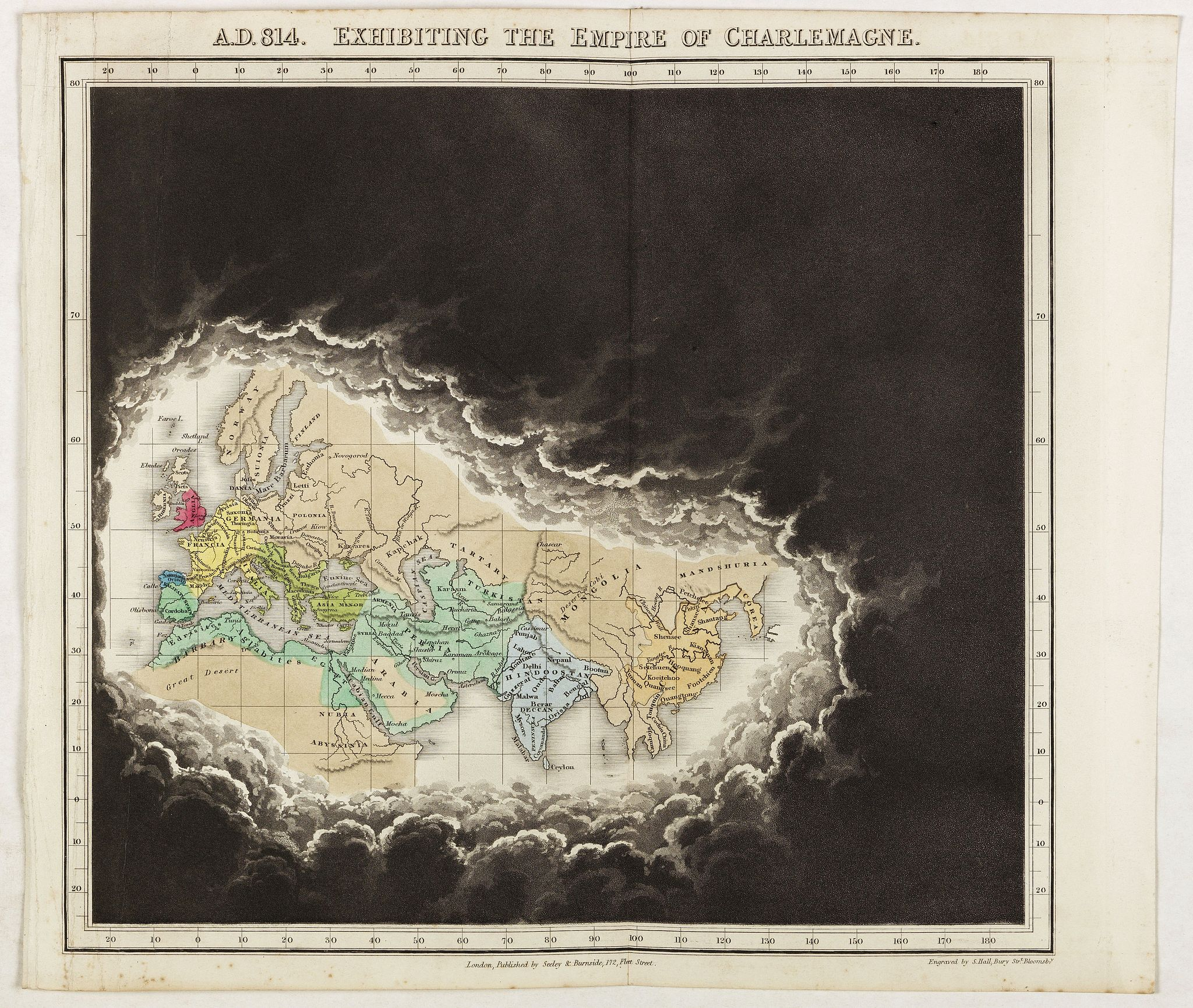 QUIN, E. -  A.D. 814. Exhibiting the Empire of Charlemagne.