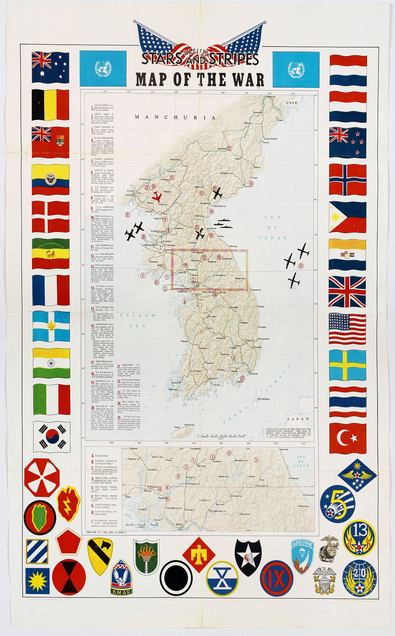 THE PACIFIC STARS AND STRIPES. -  Pacific Stars and Strips Map of the War.