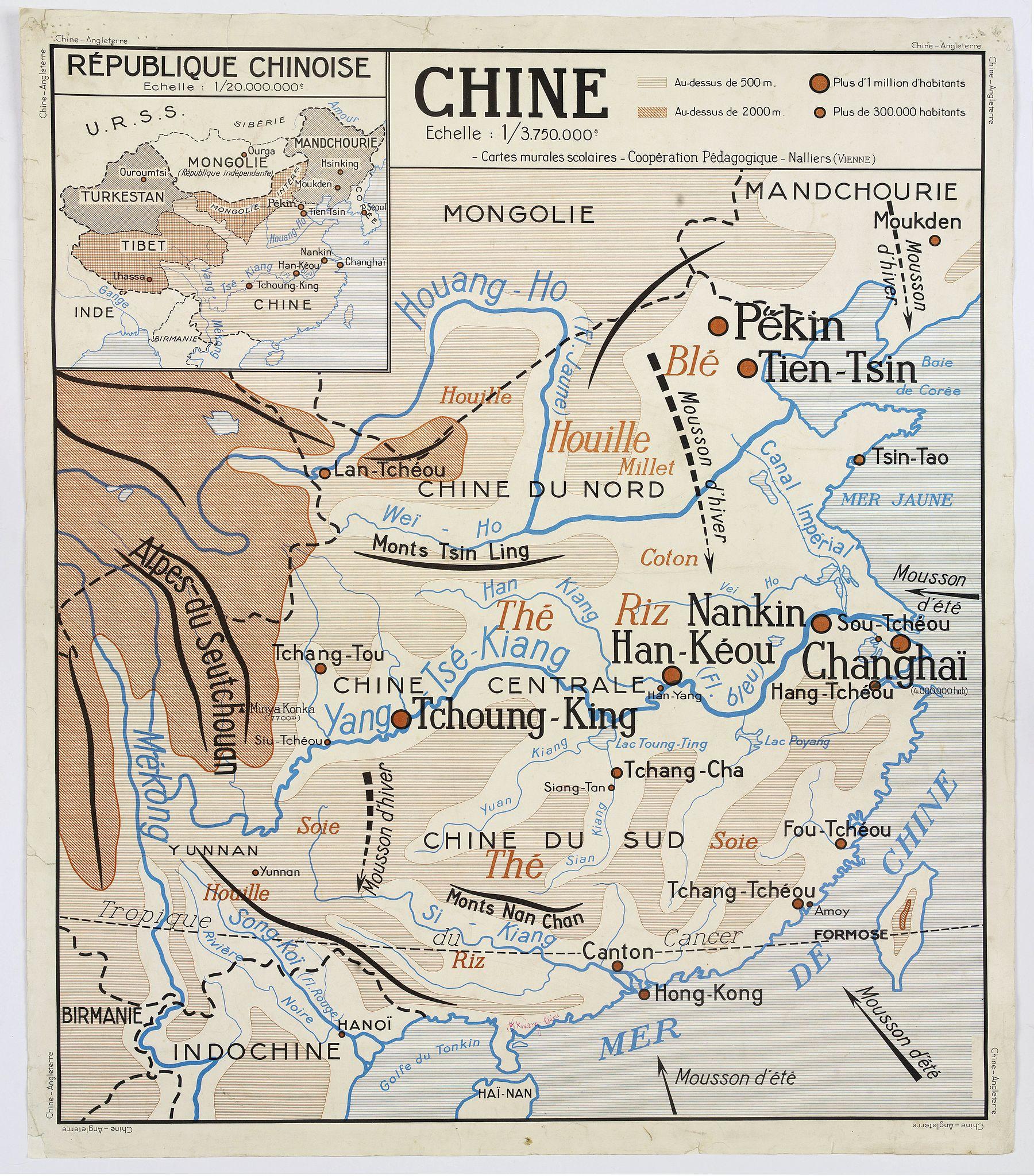 COOPERATION PEDAGOGIQUE. -  Chine - Angleterre.