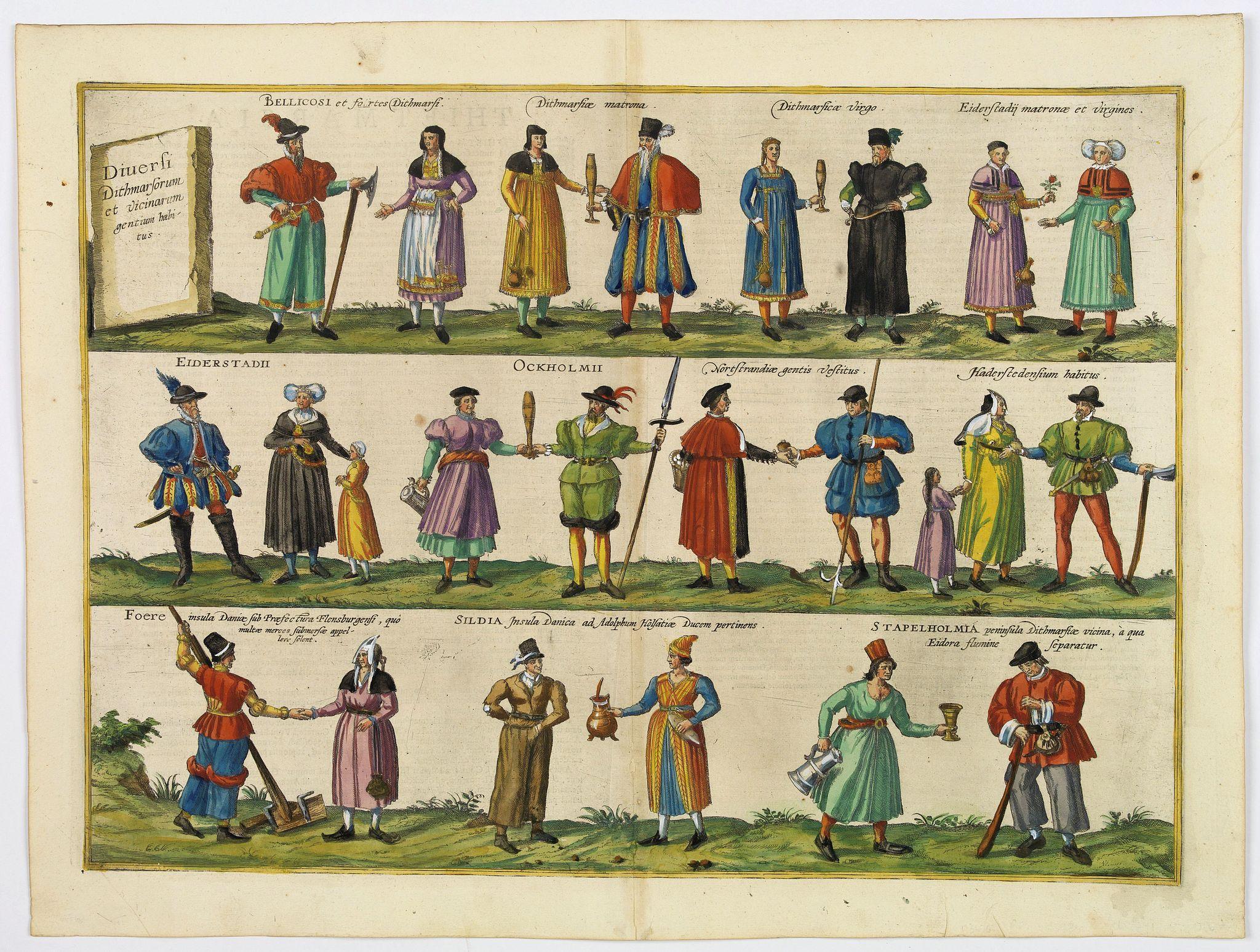 BRAUN,G. / HOGENBERG, F. -  Diversi Dithmarsorum et vicinarum gentium habitus.