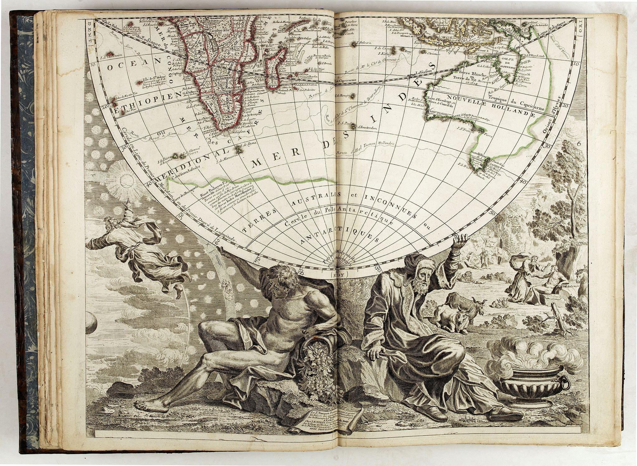 NOLIN, J.-B. -  Le Théâtre du monde dédié au roi contenant les cartes générales et particulières des royaumes et états qui le composent.