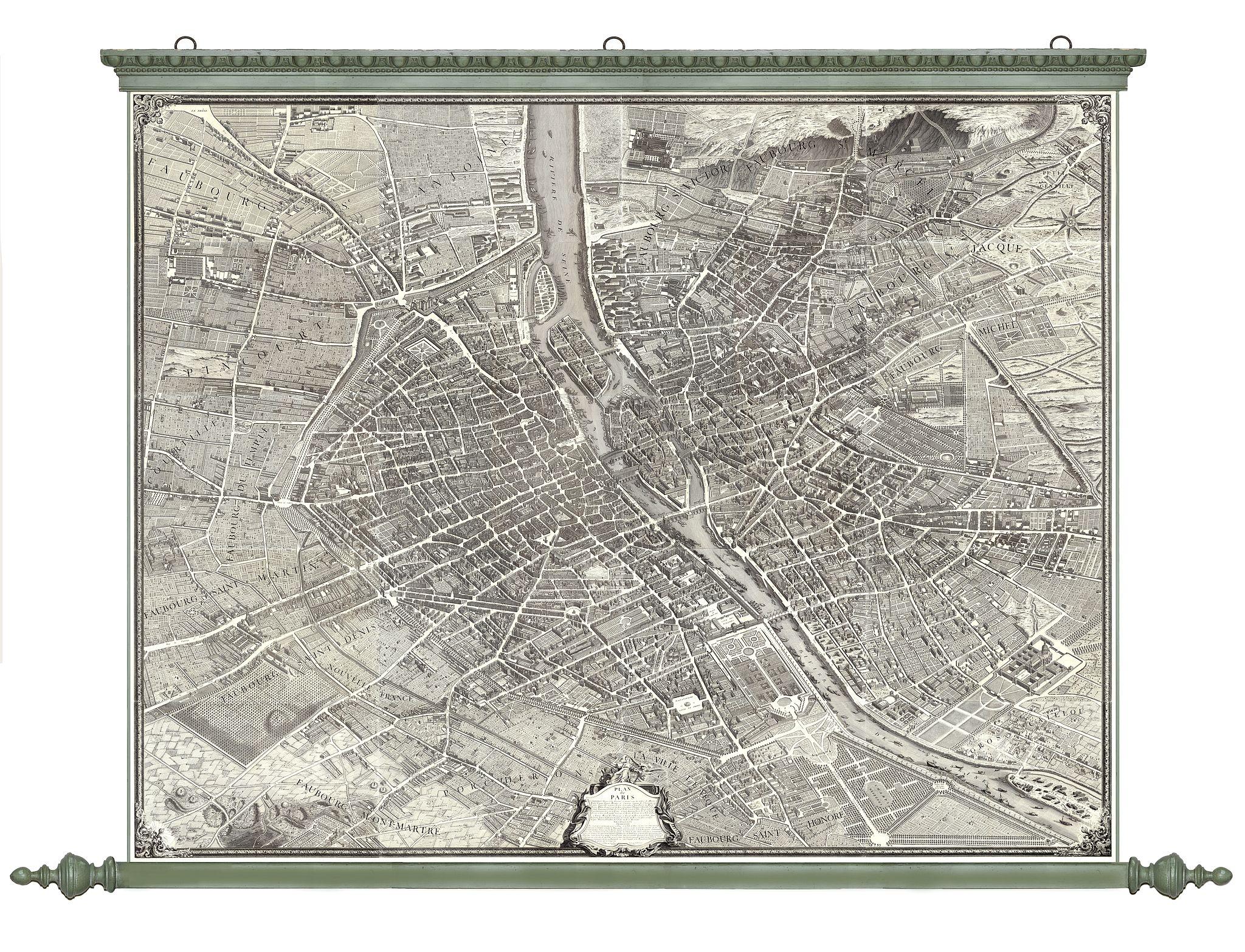 BRETEZ, Louis / TURGOT. -  Plan de Paris commencé l'année 1734, Dessiné et gravé sous les ordres de Messire Michel Etienne Turgot, prévost des marchands.