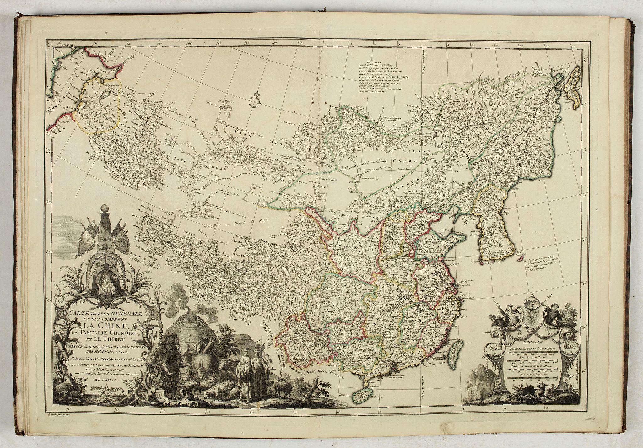 DU HALDE, J.-B. -  Nouvel atlas de la Chine, de la Tartarie chinoise, et du Thibet.