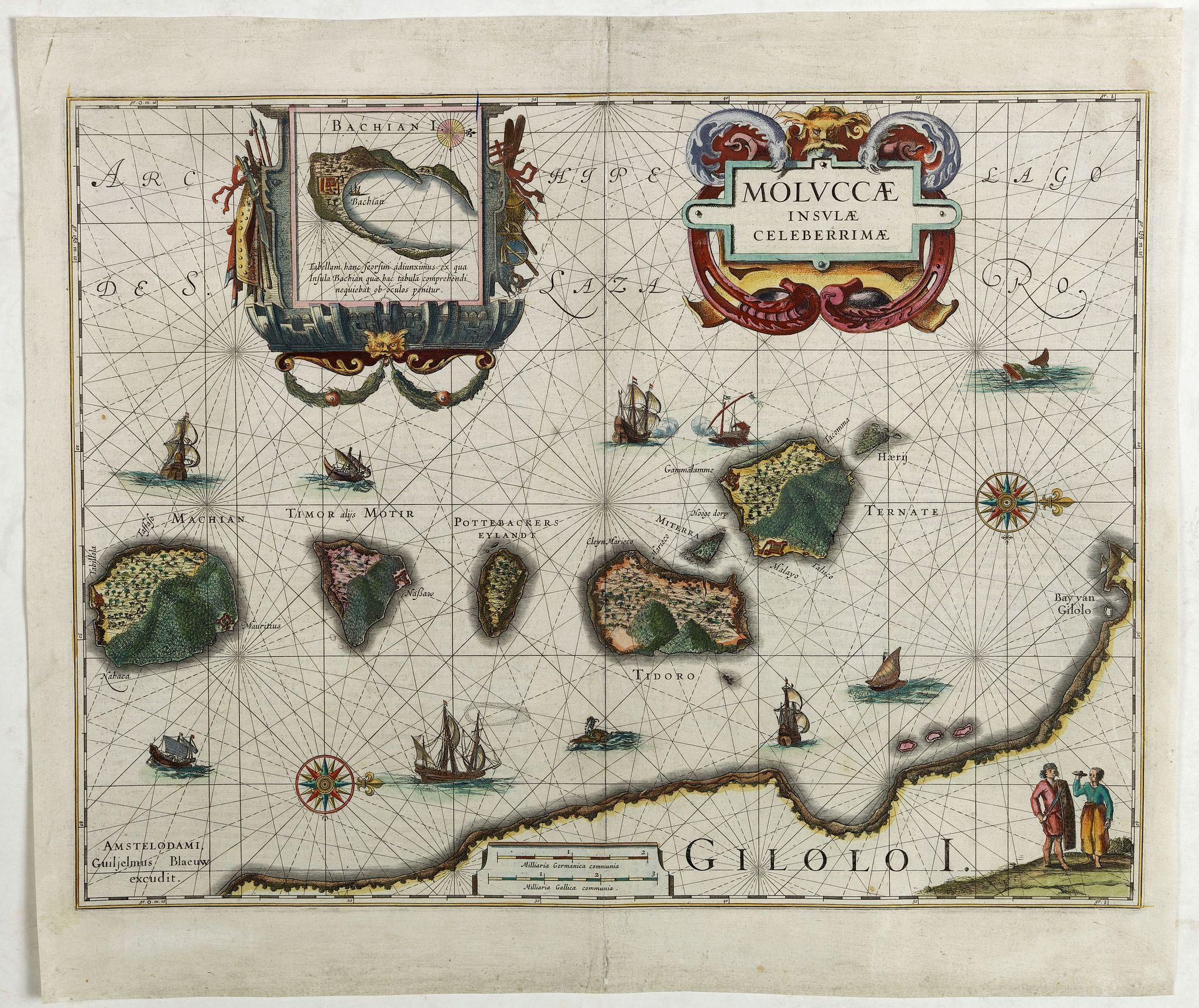 BLAEU, W. -  Moluccae Insulae Celeberrimae.