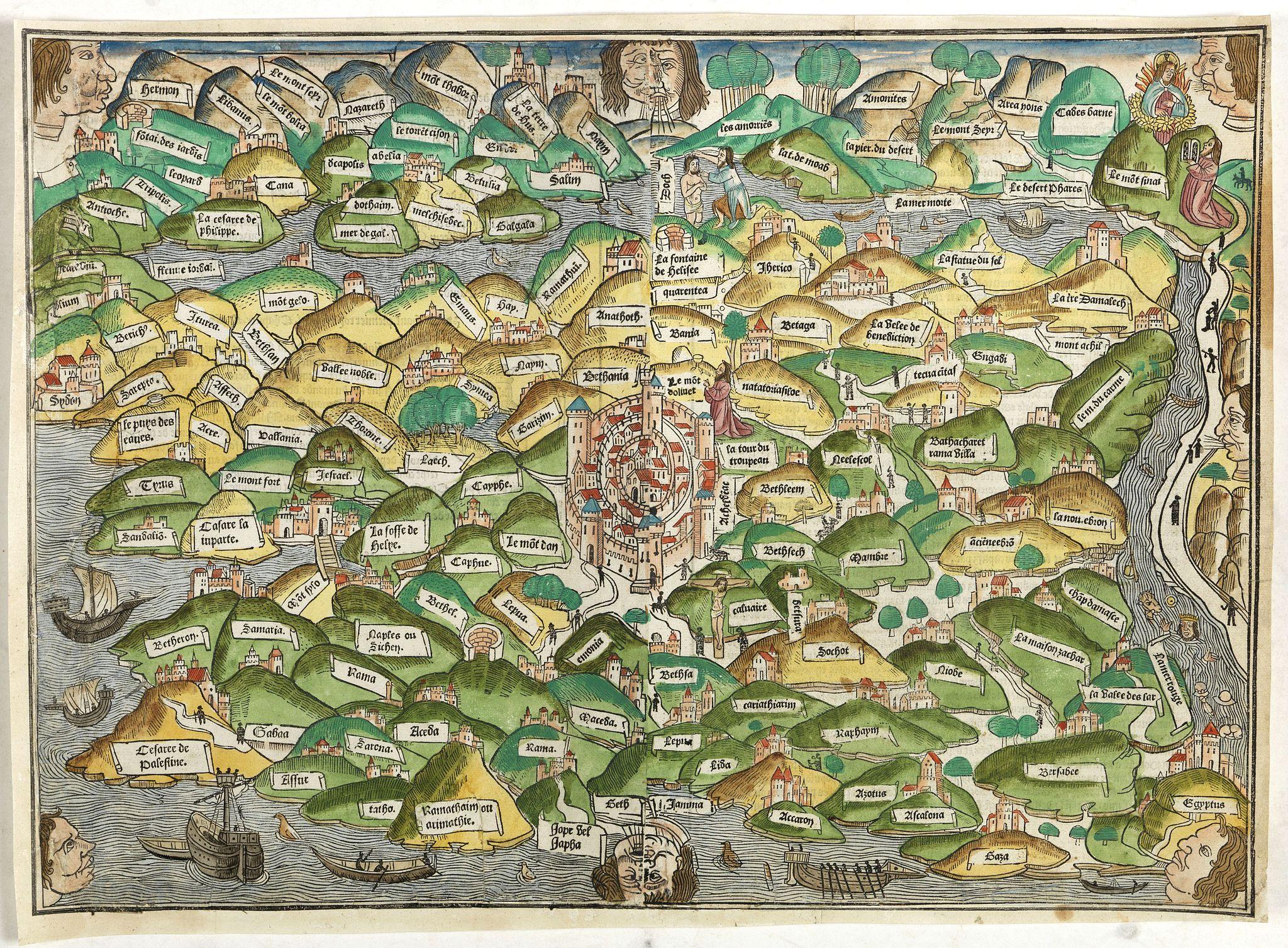 MER DES HYSTOIRES -  [Map of Palestine ]