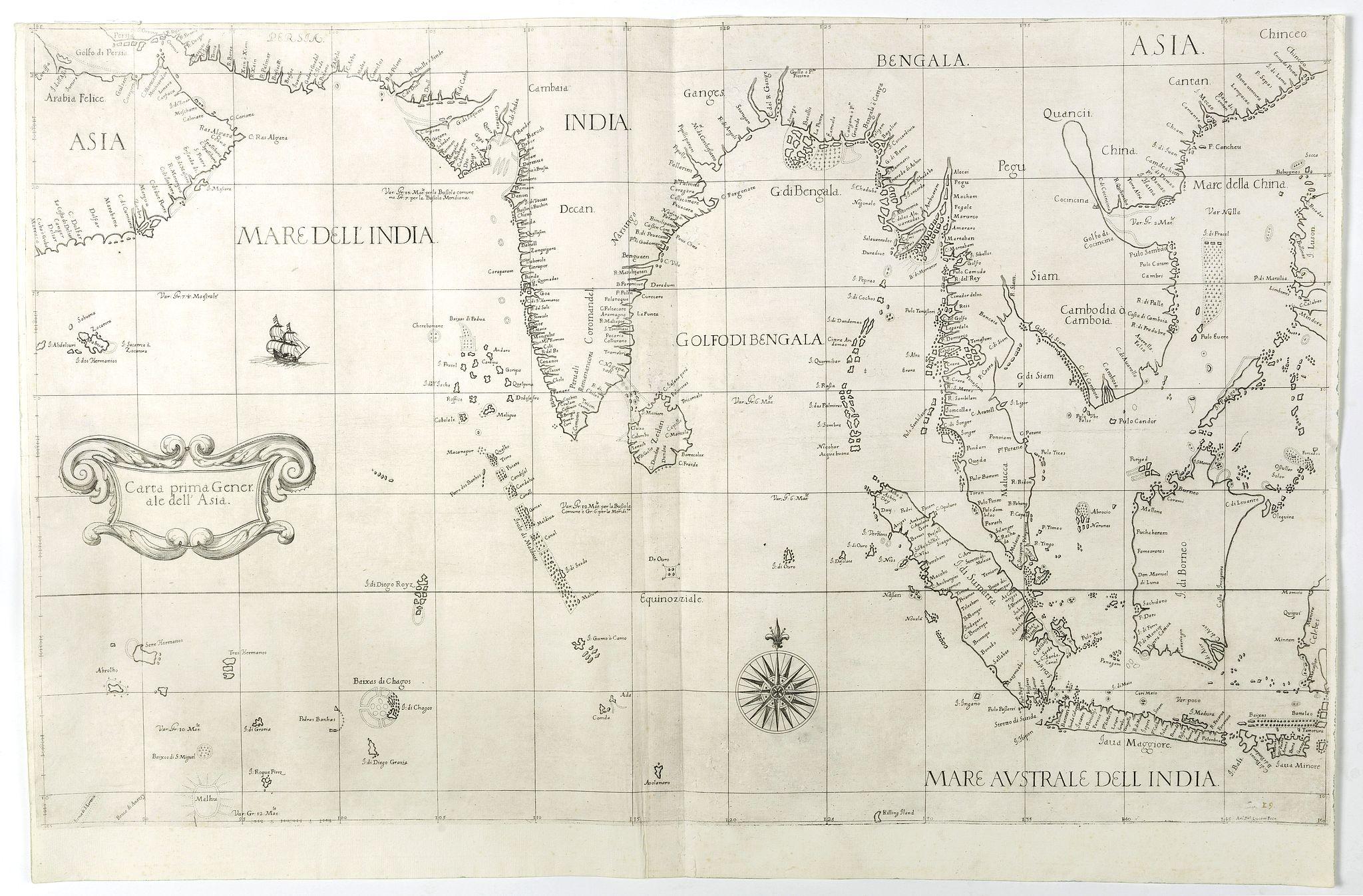 DUDLEY, R. -  Carta prima Generale dell' Asia.