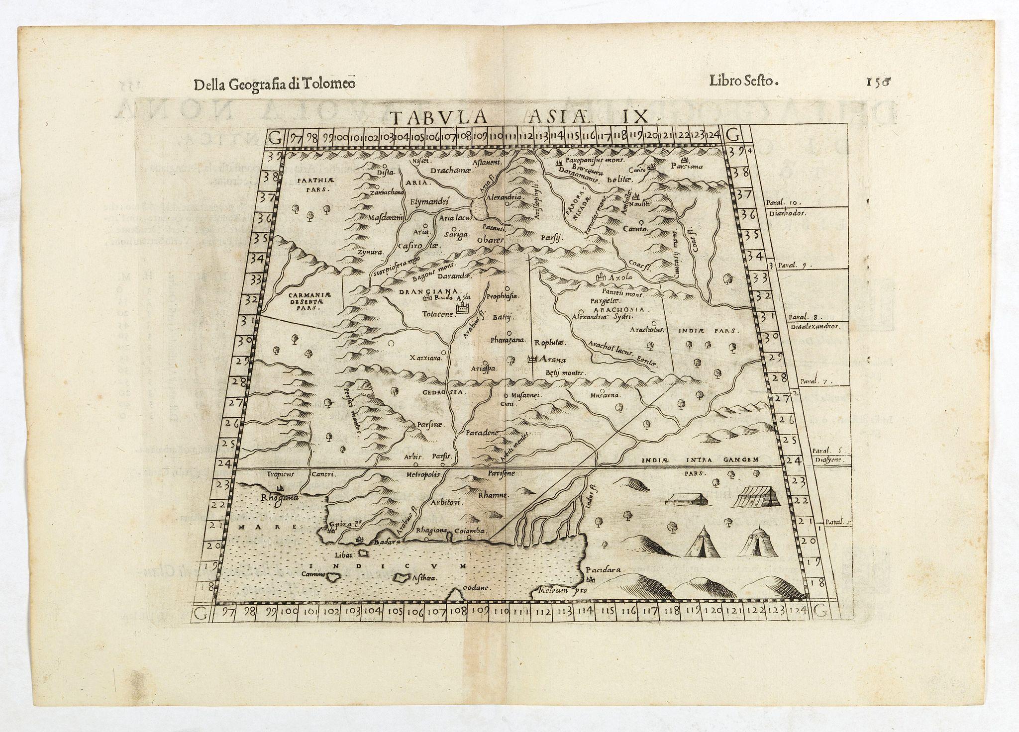 RUSCELLI, G. - Tabula Asiae IX.