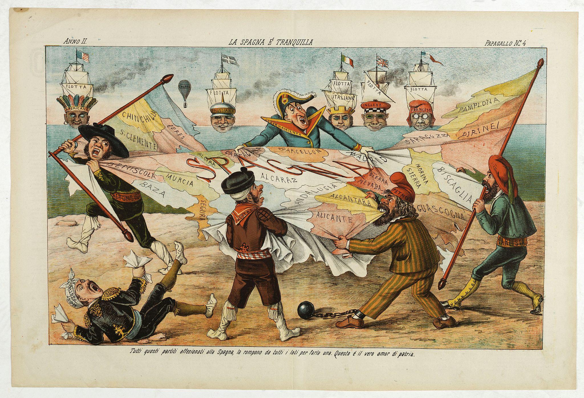 GROSSI, A. - La Spagna e Tranquilla. Papagallo No. 4. Anno II.