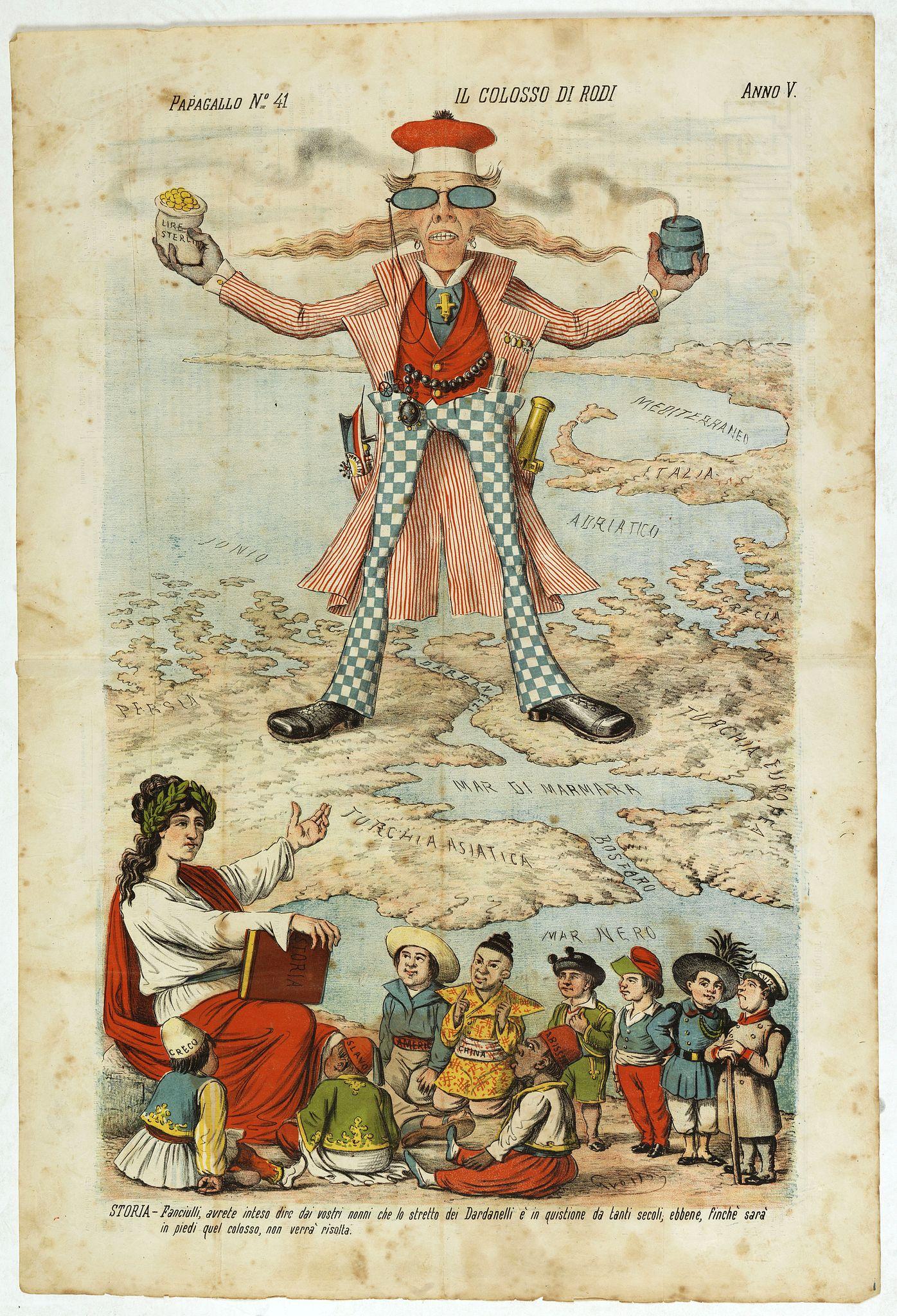 GROSSI, A. - Il colosso di Rodi. Papagallo No. 41. Anno V.