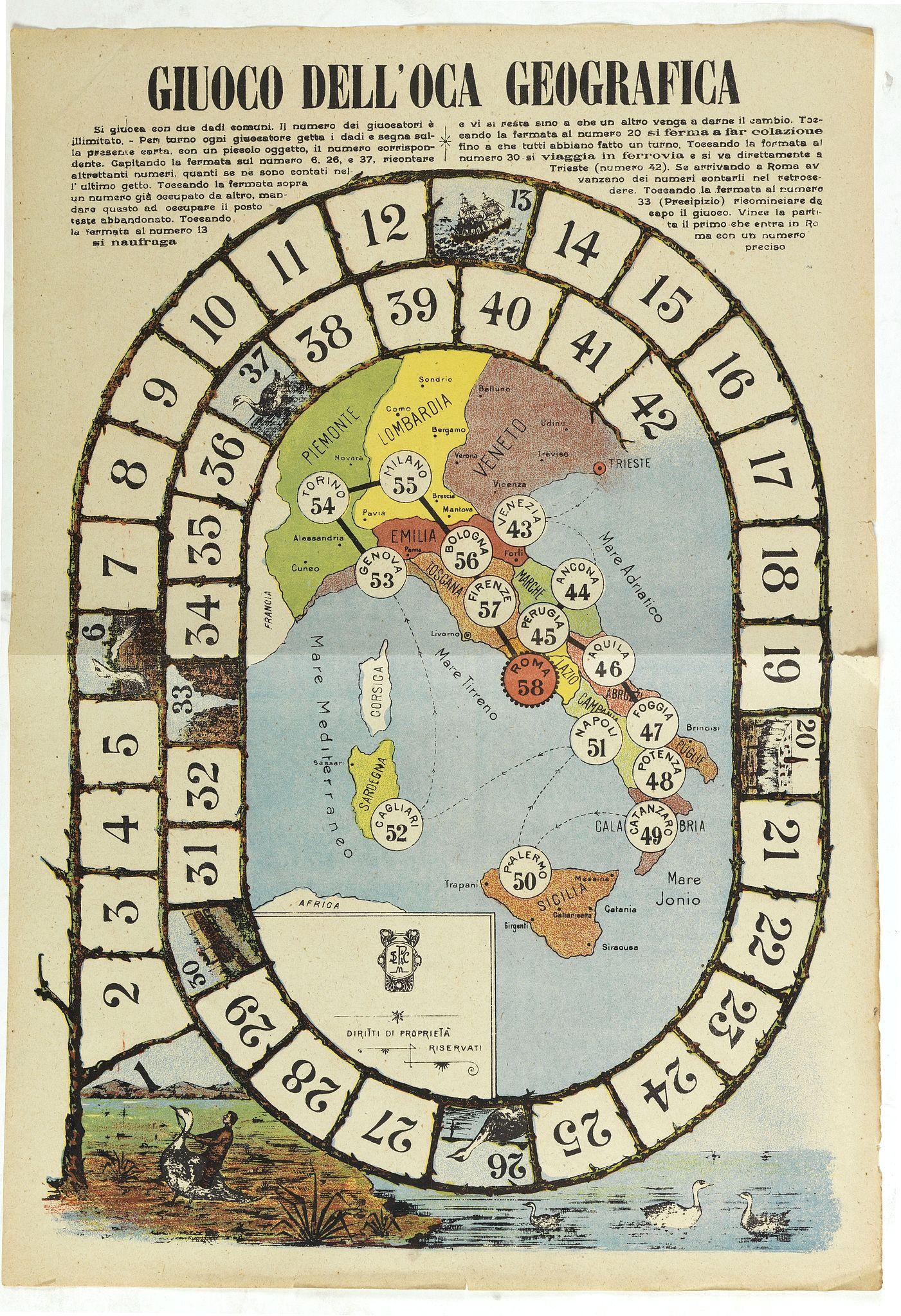 DITTA L. PEREGO -  Giuoco Dell'Oca Geografica.