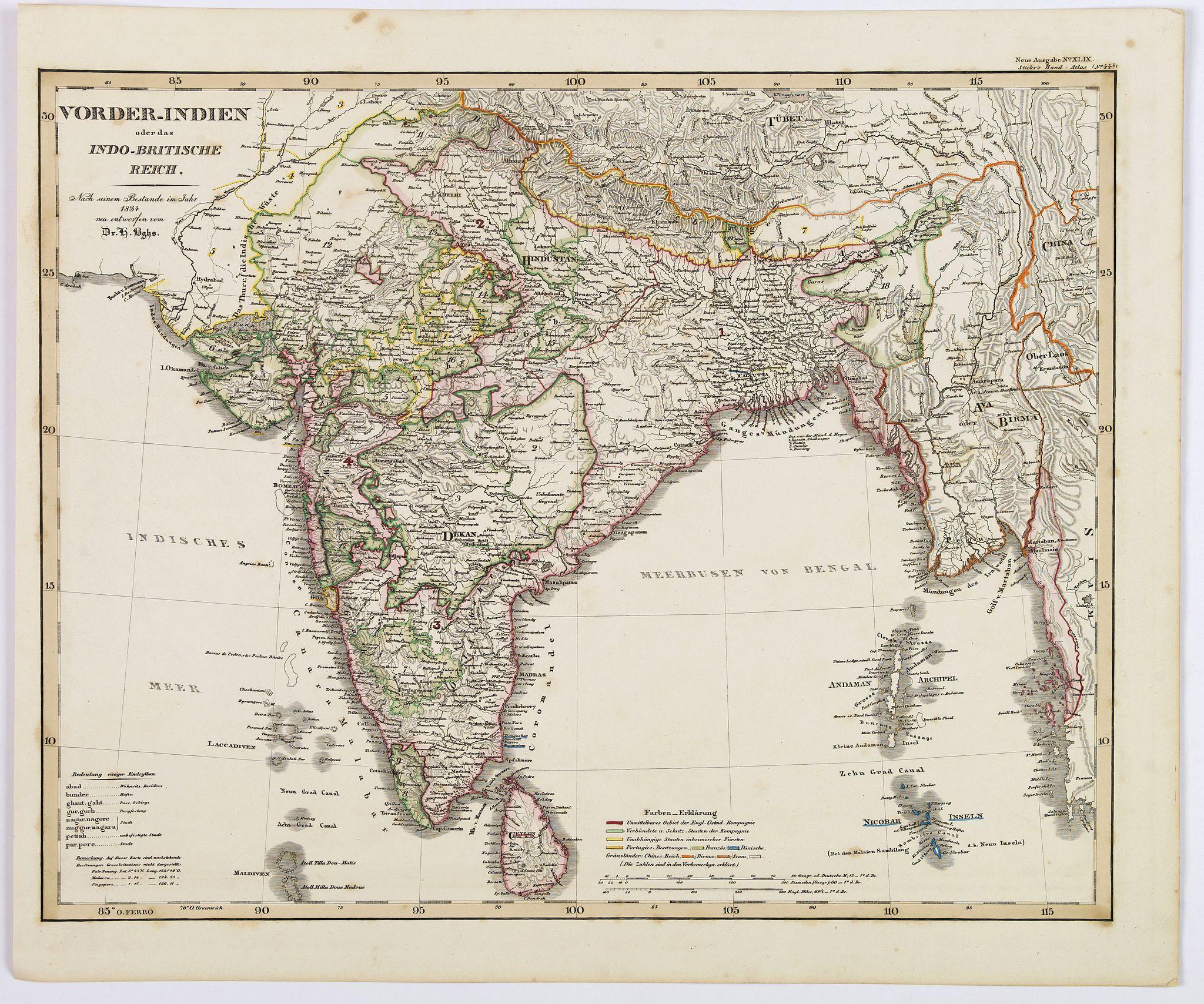 STEILER. - Vorder-Indien oder dasIndo-Britische Reich.