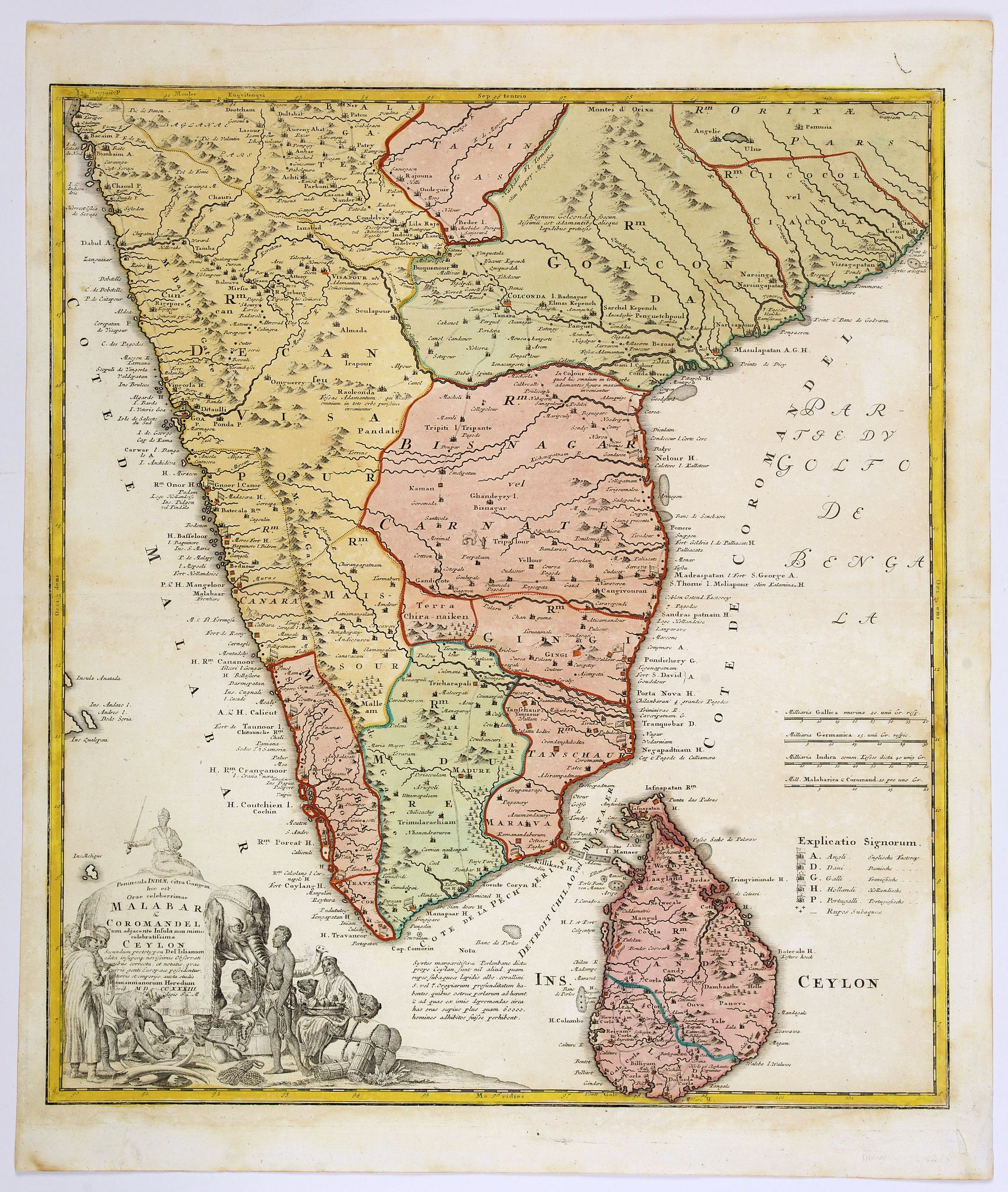 HOMANN HEIRS. - Peninsula Indiae Malabar Coromandel Ceylon.