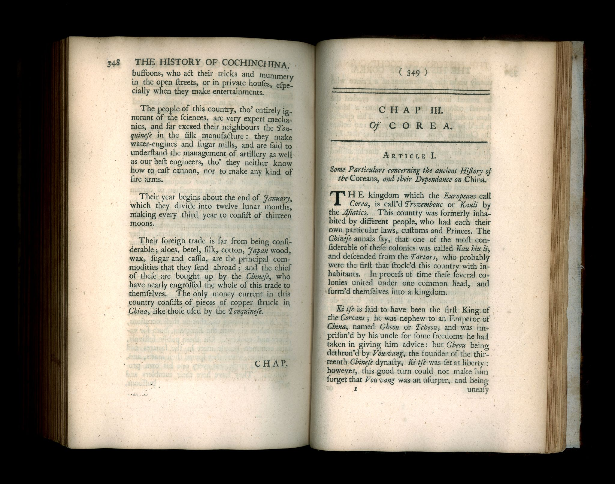 KNAPTON, J. and P. -  The Modern History, by way of sequel to Mr. Rollin's ancient history. Vol. I. Containing the history of China.