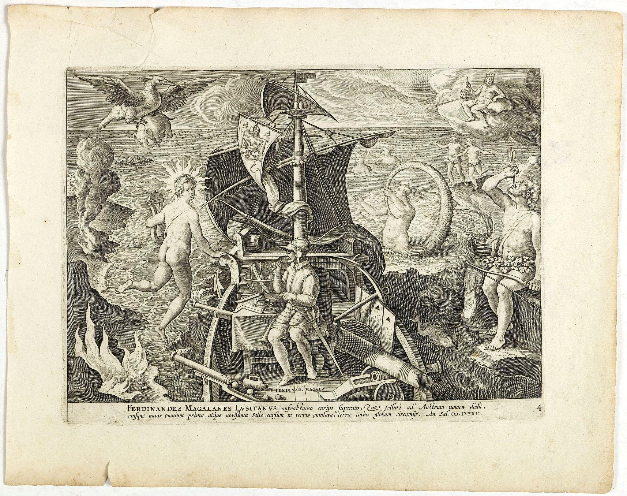 STRADANUS, J. -  Ferdinandes Magellanes Lusitanus. . .