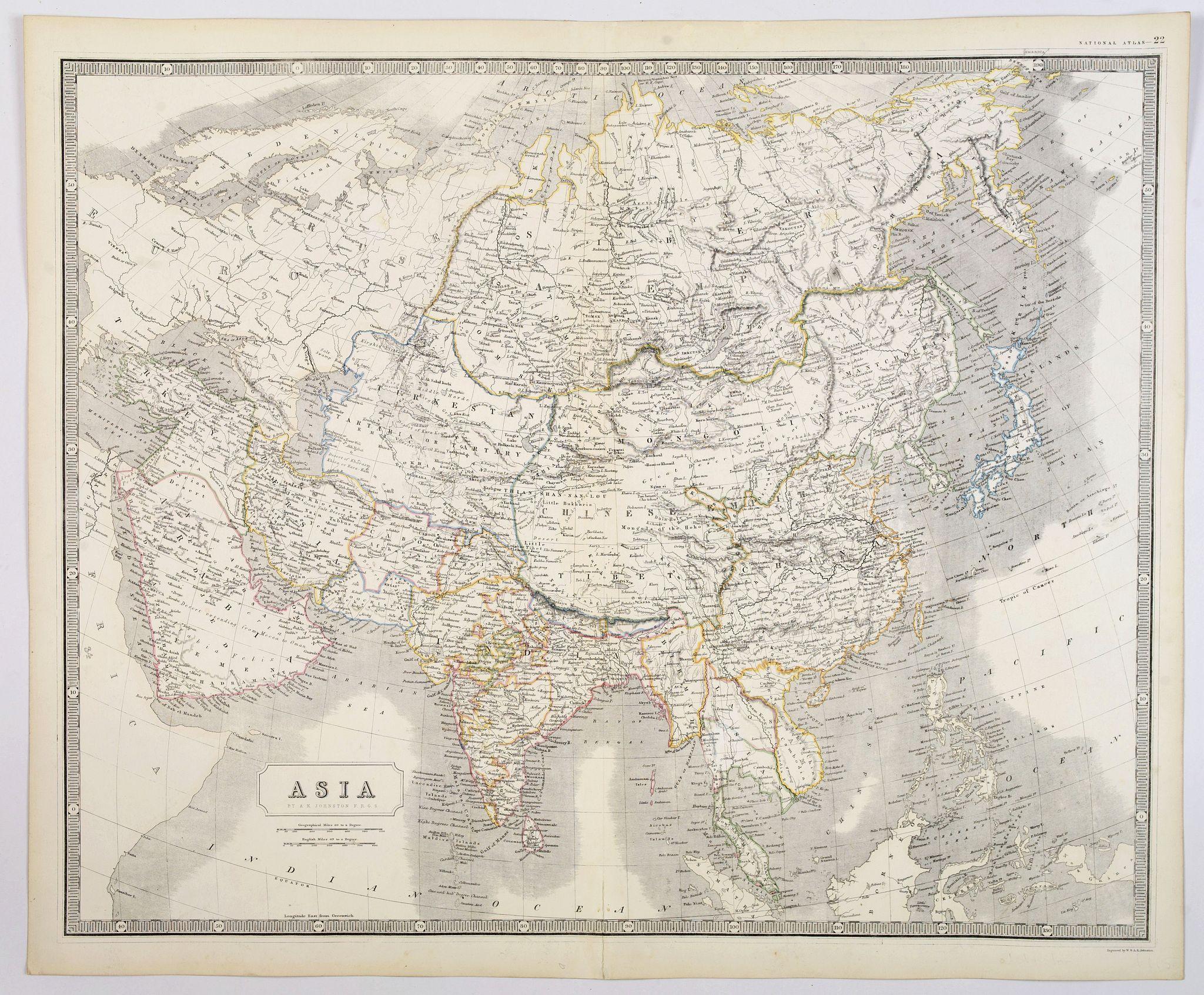 JOHNSTON, A. K. - Asia.