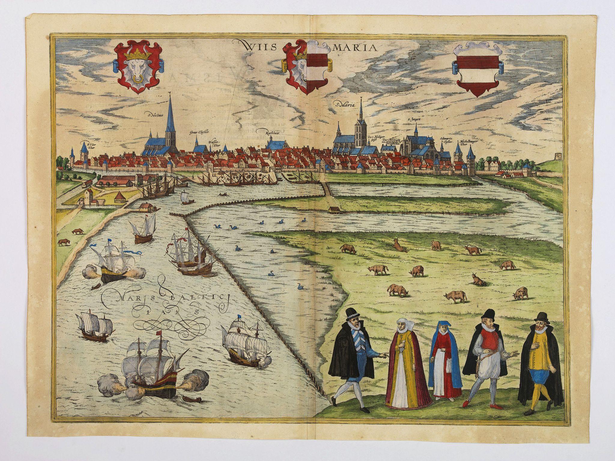 BRAUN,G. / HOGENBERG, F. -  Wiismaria [Wismar].