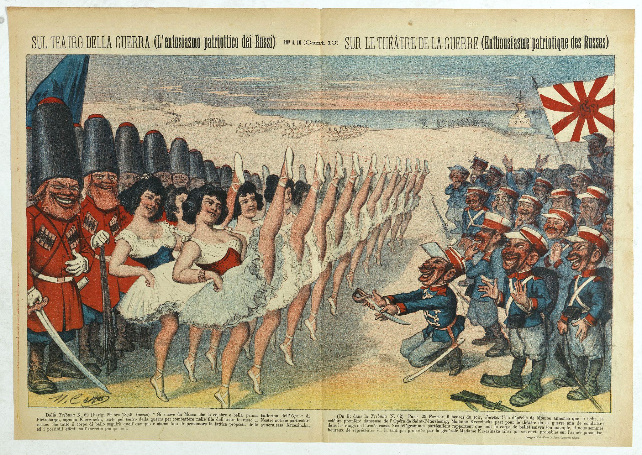 CETTO, M. -  Sul teatro della guerra (L'entusiasmo patriottico dei Russi) - Rana N. 10 (Cent.10) - Sur le théâtre de la guerre (enthousiasme patriotique des Russes).