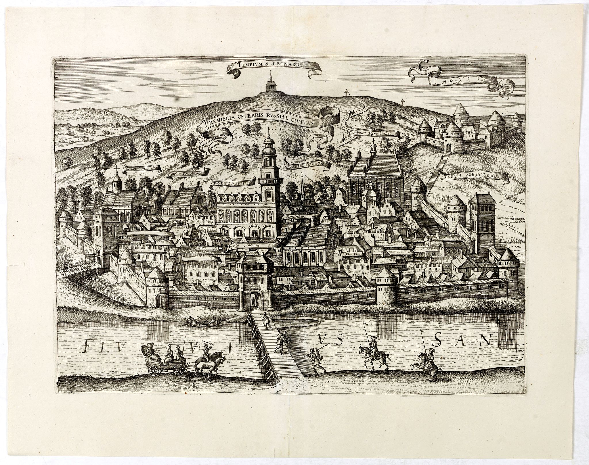 BRAUN,G. / HOGENBERG, F. / JANSSONIUS, J. -  Premislia celebris russiae civitas.