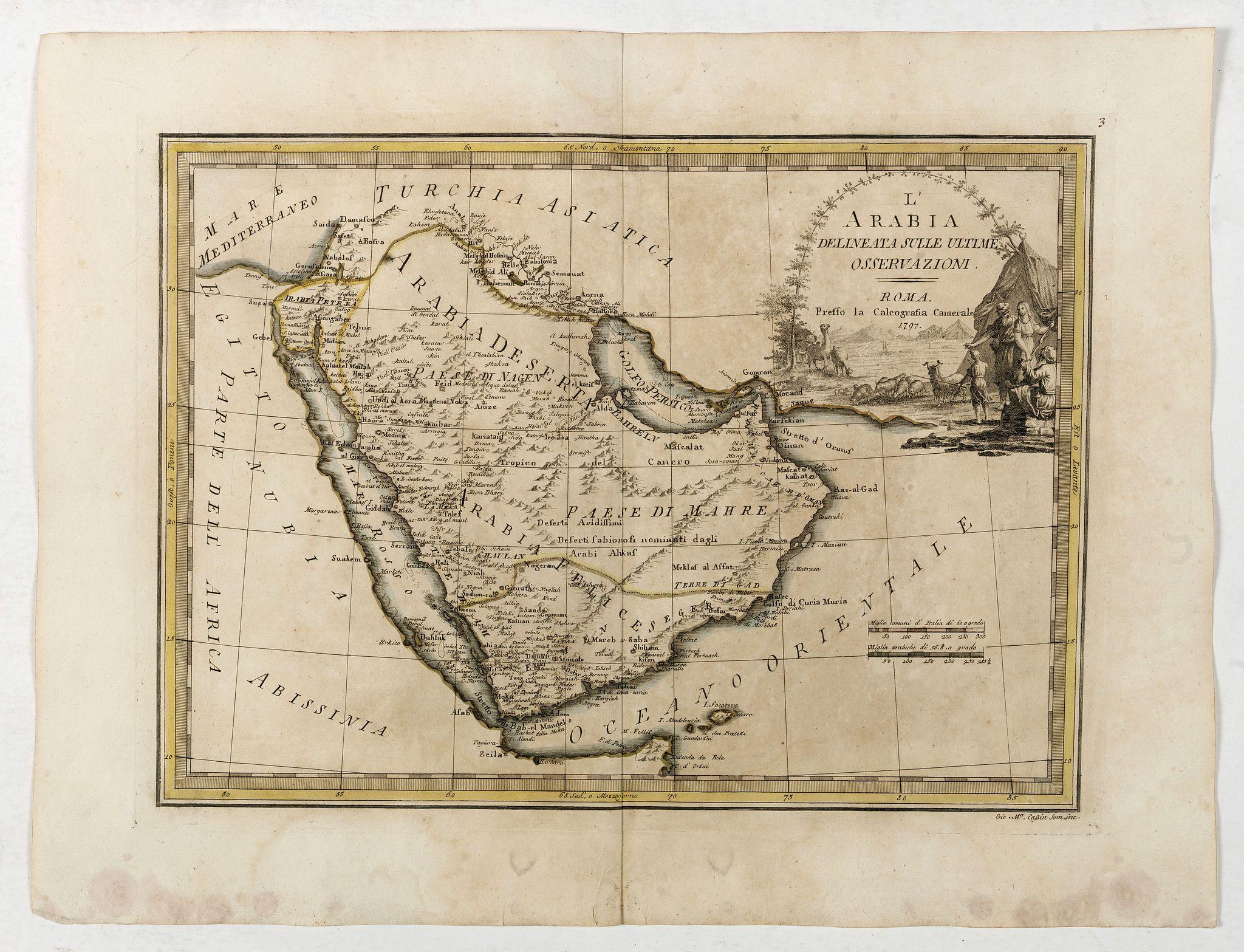 CASSINI, G.M. -  L'Arabia delineata sulle ultime osservazioni.