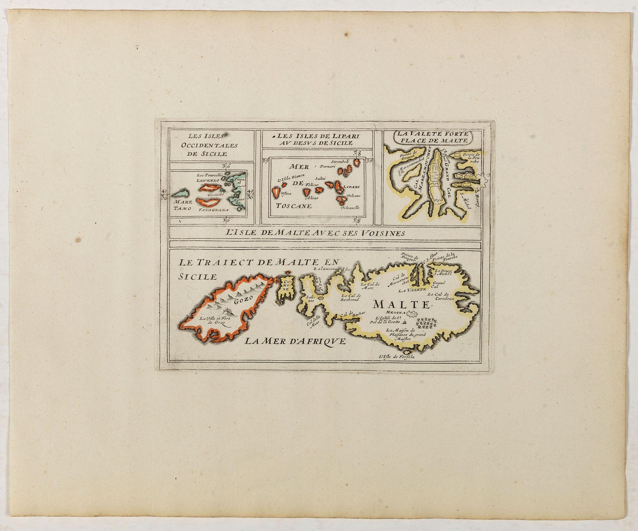 BRIET, Ph. -  L'Isle de Malte avec ses Voisines./ La Valete Forte..