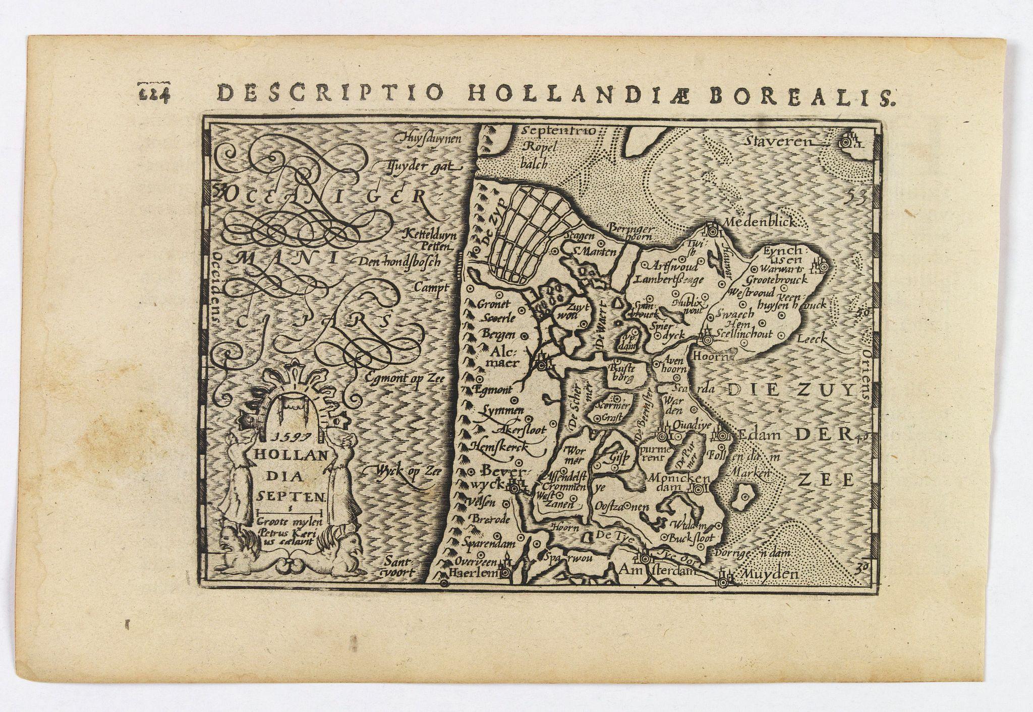 LANGENES, B. / BERTIUS, P. -  Hollandia Septentrionalis.