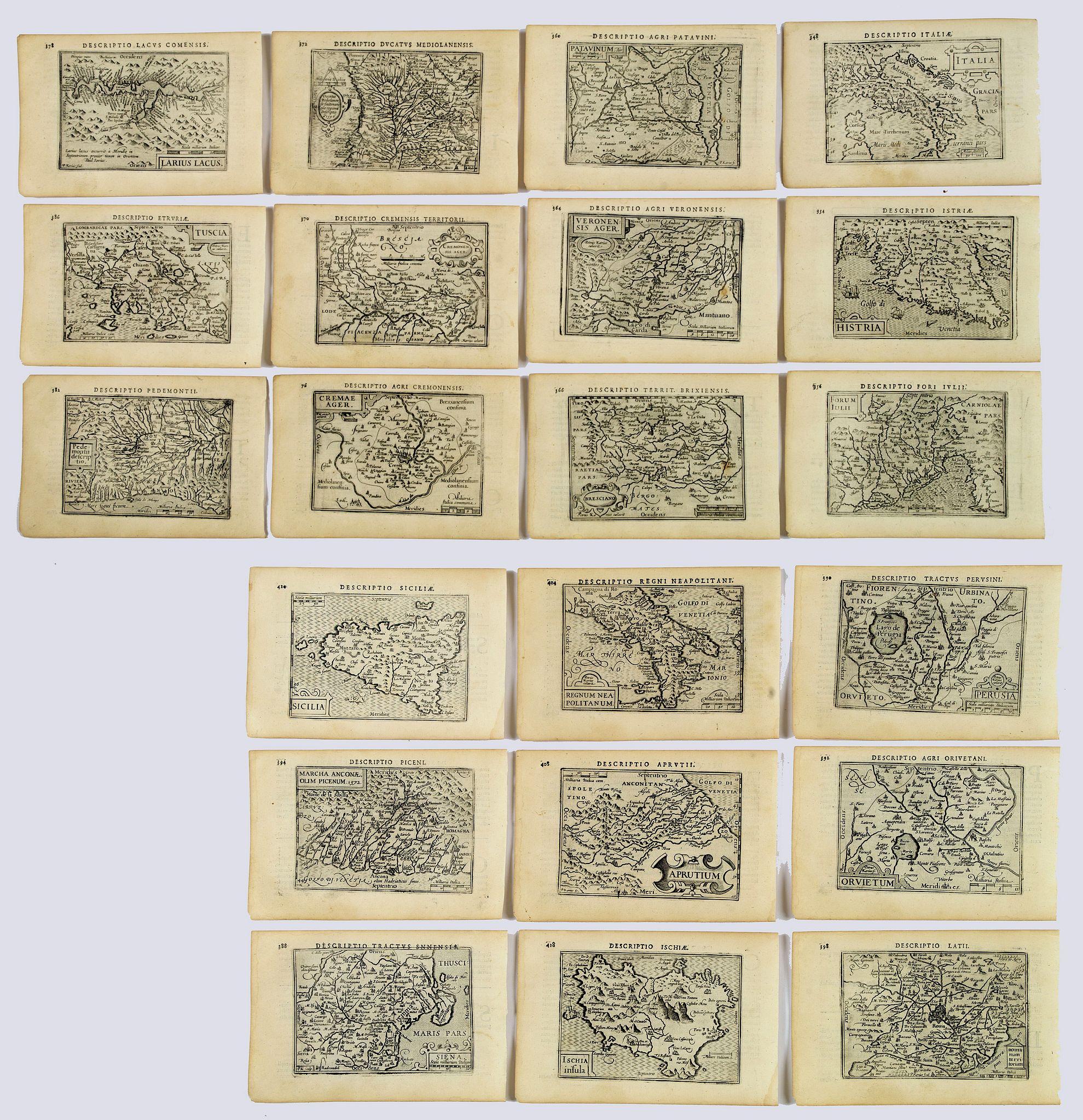 LANGENES, B. / BERTIUS, P. -  Italia. [Set of 21 maps]