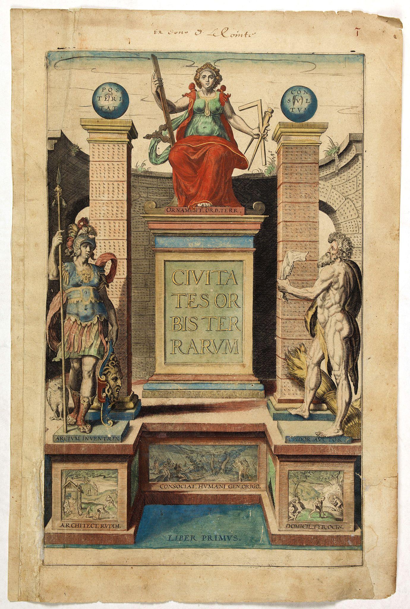 BRAUN, G. / HOGENBERG, F. -  [Title page] Civitates Orbis Terrarum, Liber Primus.