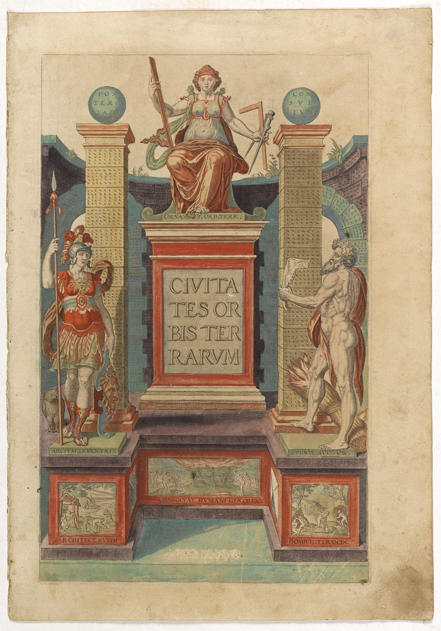 BRAUN,G. / HOGENBERG, F. -  [Title page] Civitates orbis Terrarum.