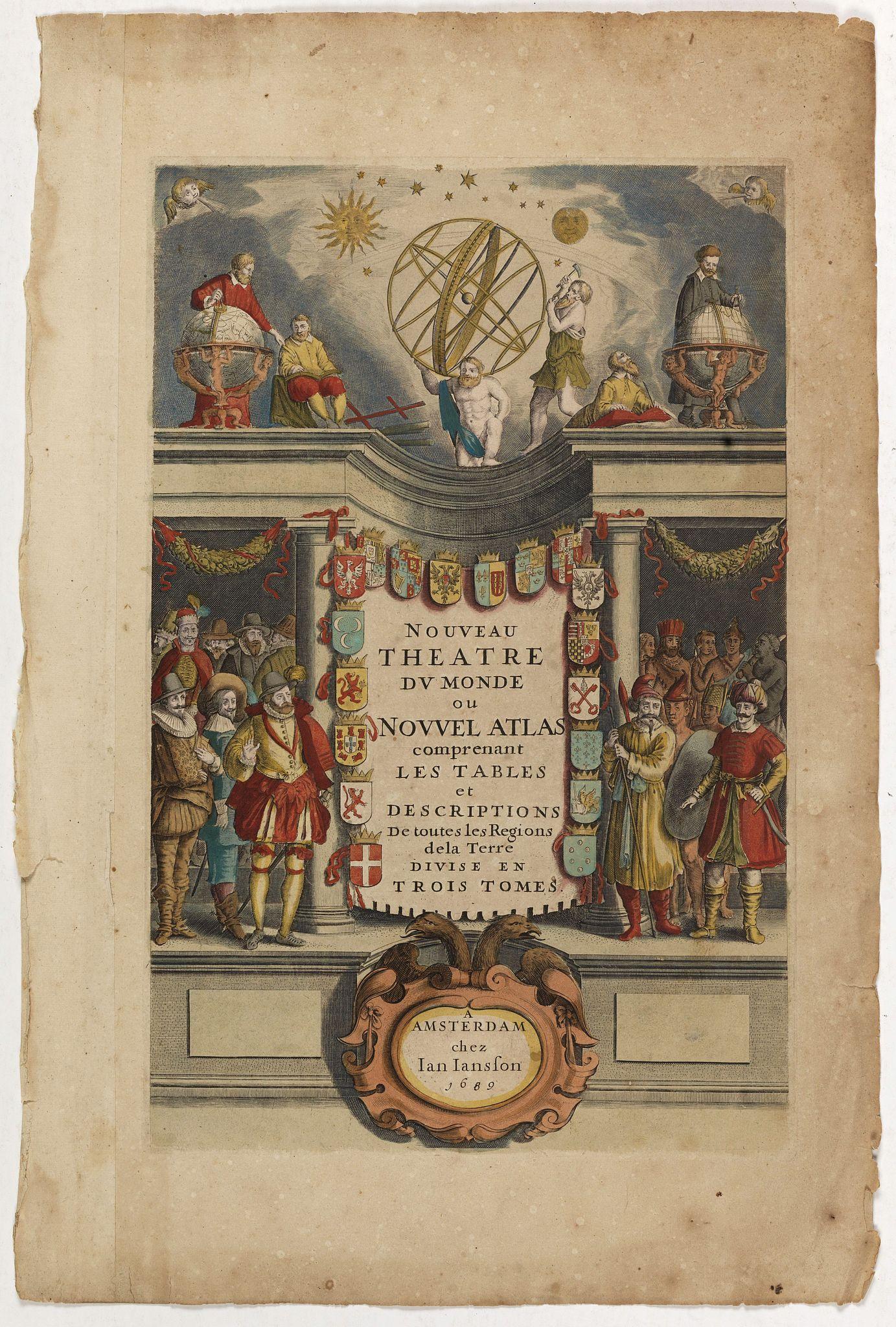 JANSSONIUS, J. HONDIUS, H. -  [Title page]  Nouveau Theatre Du Mond ou Nouvel Atlas . . .