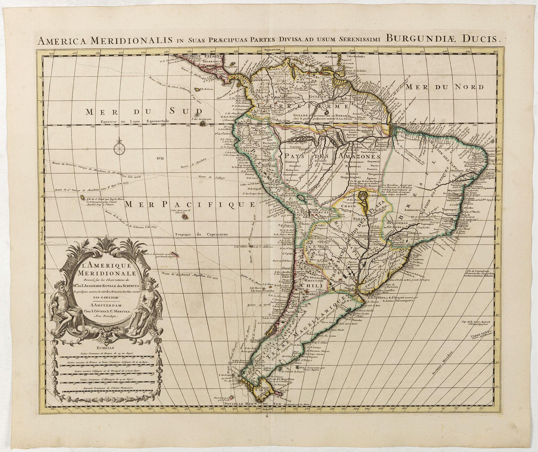 COVENS, J. / MORTIER, C. -  L'Amerique Meridionale Dressée sur les Observations . . .
