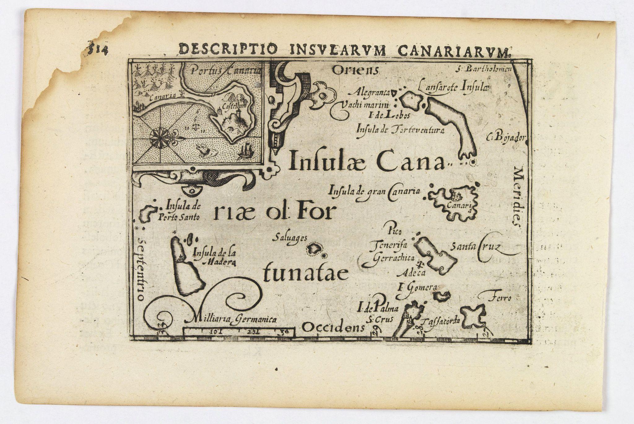 LANGENES, B. / BERTIUS, P. -  Descriptio Insularum Canariarum.