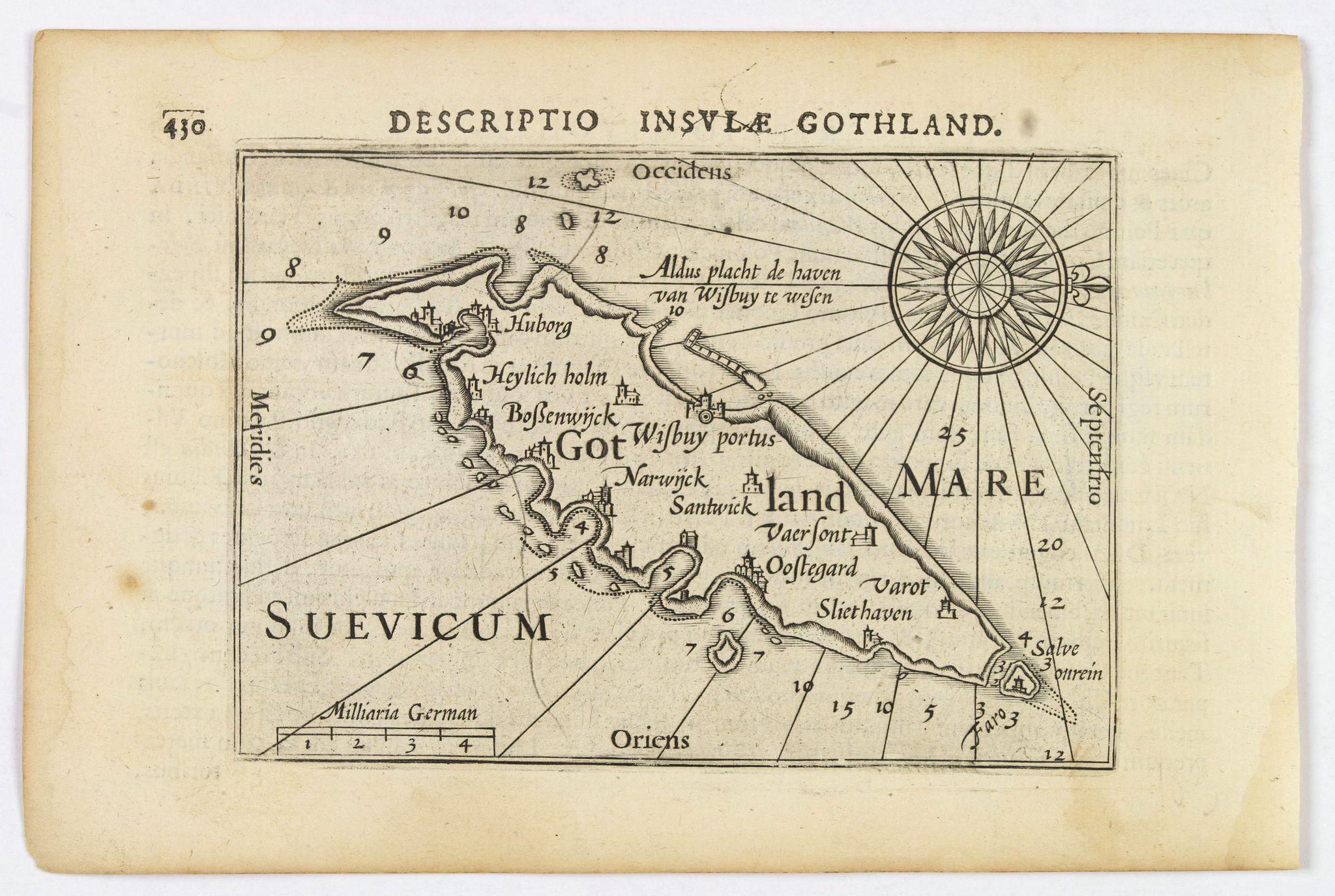 LANGENES, B. / BERTIUS, P. -  Descriptio Insulae Gothland.