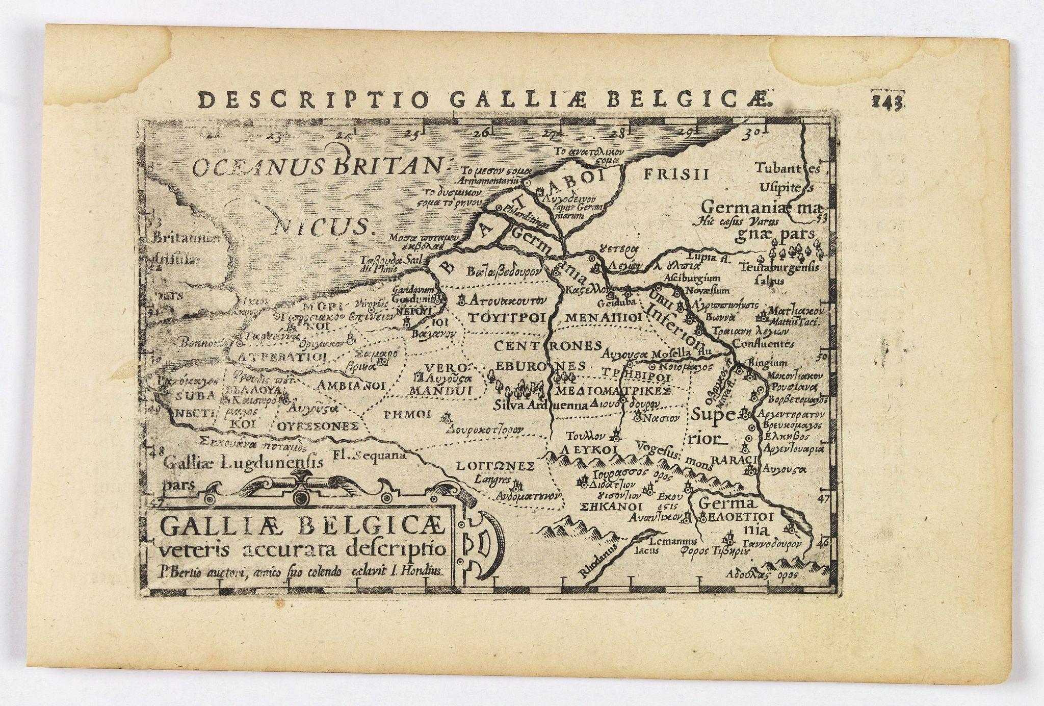 LANGENES, B. / BERTIUS, P. -  Descriptio Galliae Belgicae.