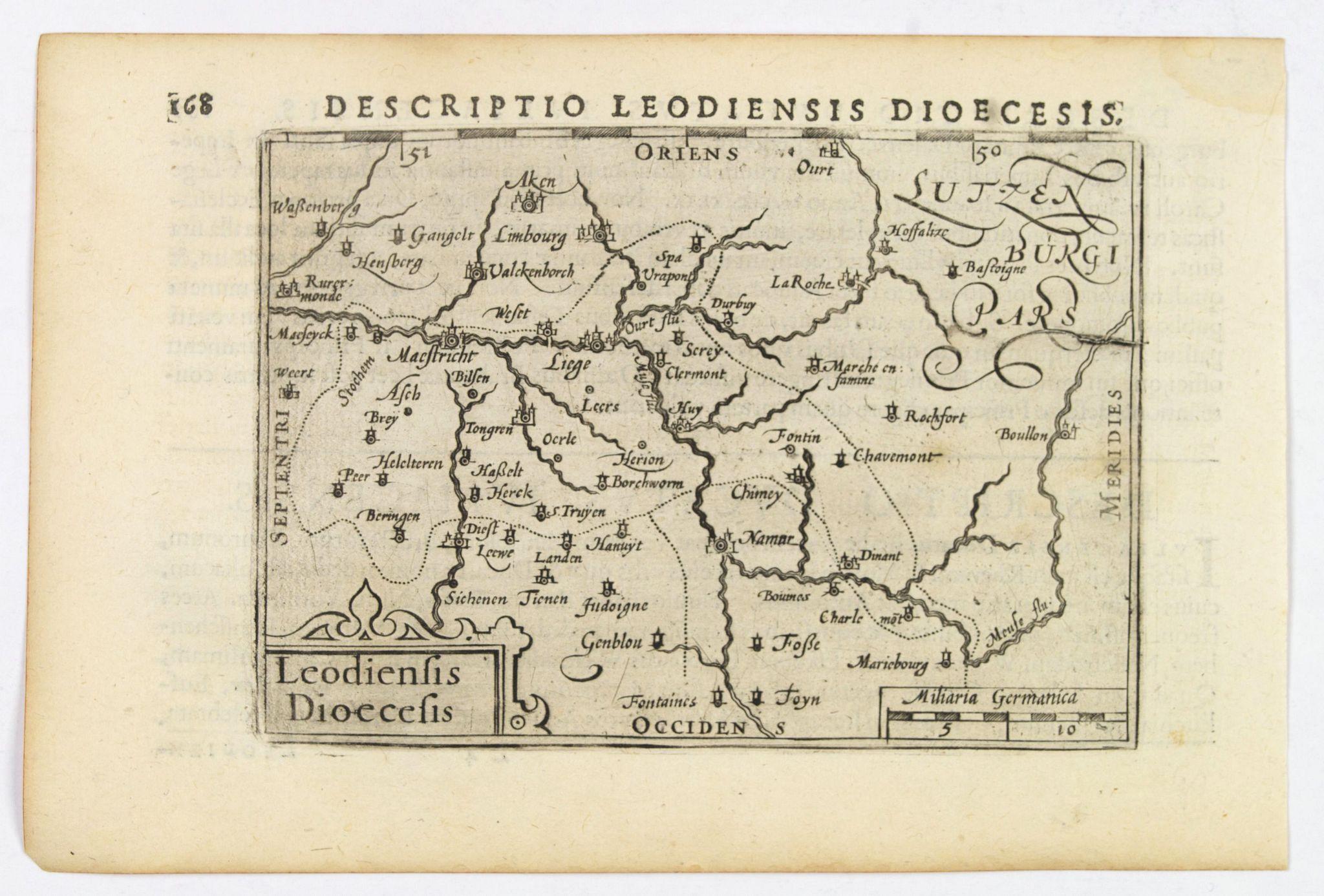 LANGENES, B. / BERTIUS, P. -  Descriptio Leodiensis Dioecesis.