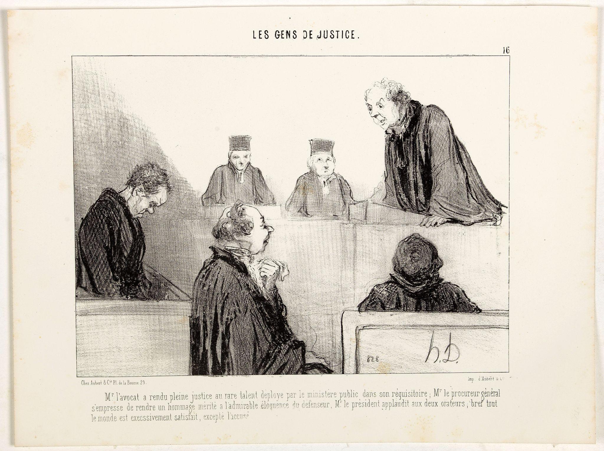 DAUMIER, H. -  Mr. l'avocat a rendu pleine justice au rare talent déployé par le ministère public dans son réquisitoire; …