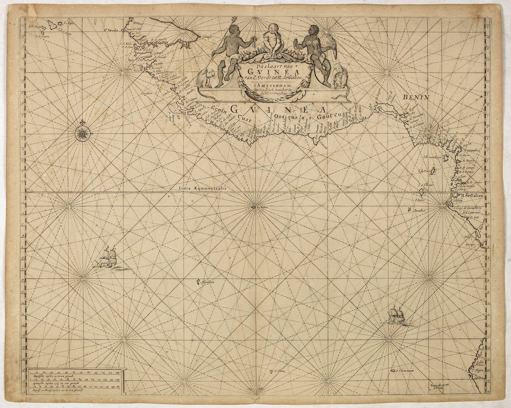 DONCKER, H. -  Paskaart van Guinea van C.Verde tot R. deGalion.