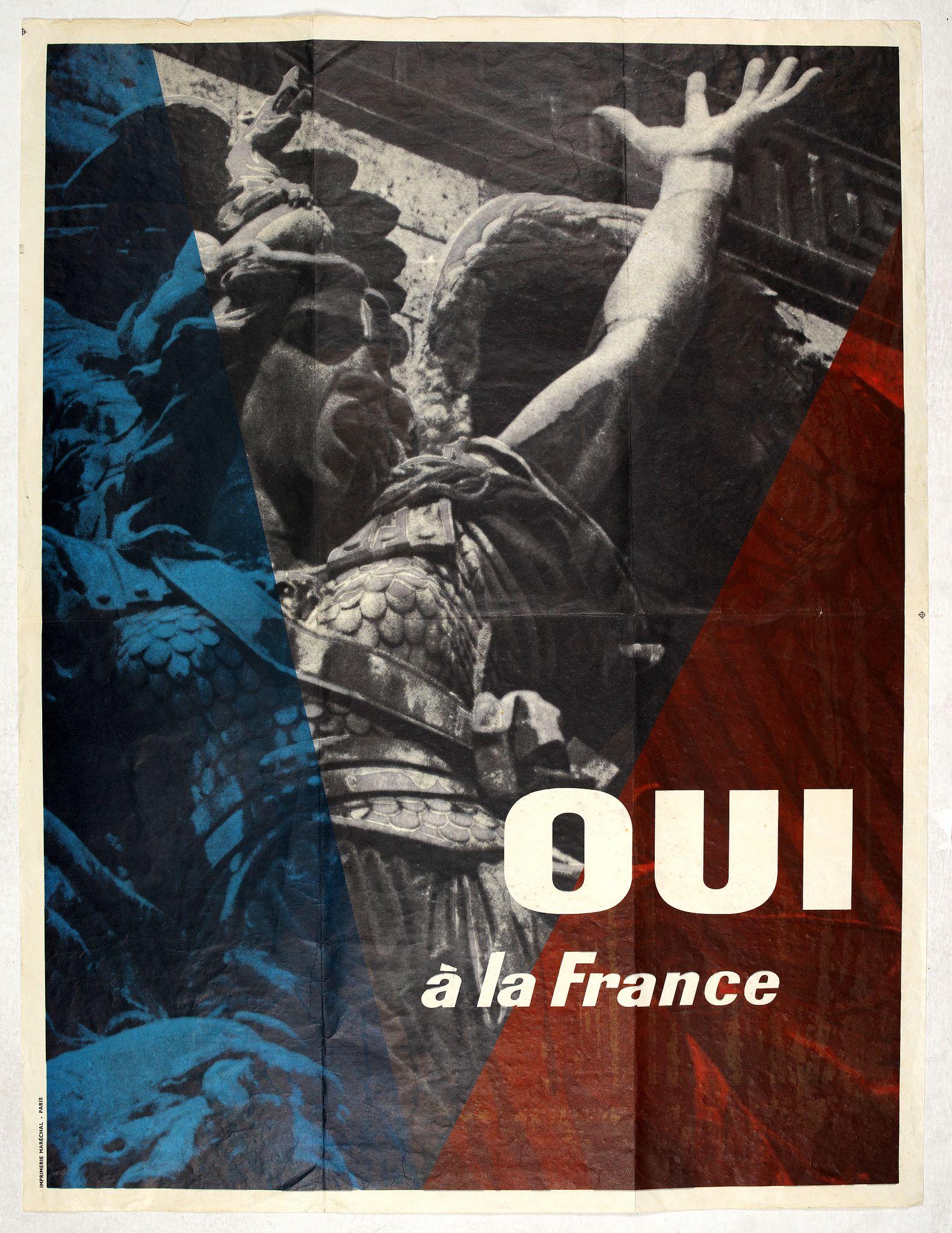 IMPRIMERIE MARECHAL -  Oui à La France.